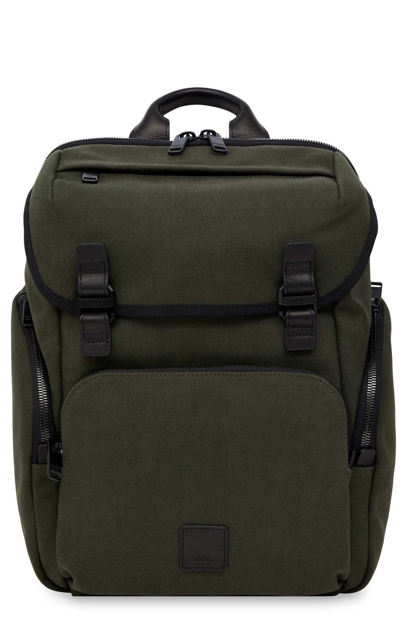 5872410d715f Knomo Fulham Thurloe Waxed Canvas Backpack With Rfid Pocket - Green