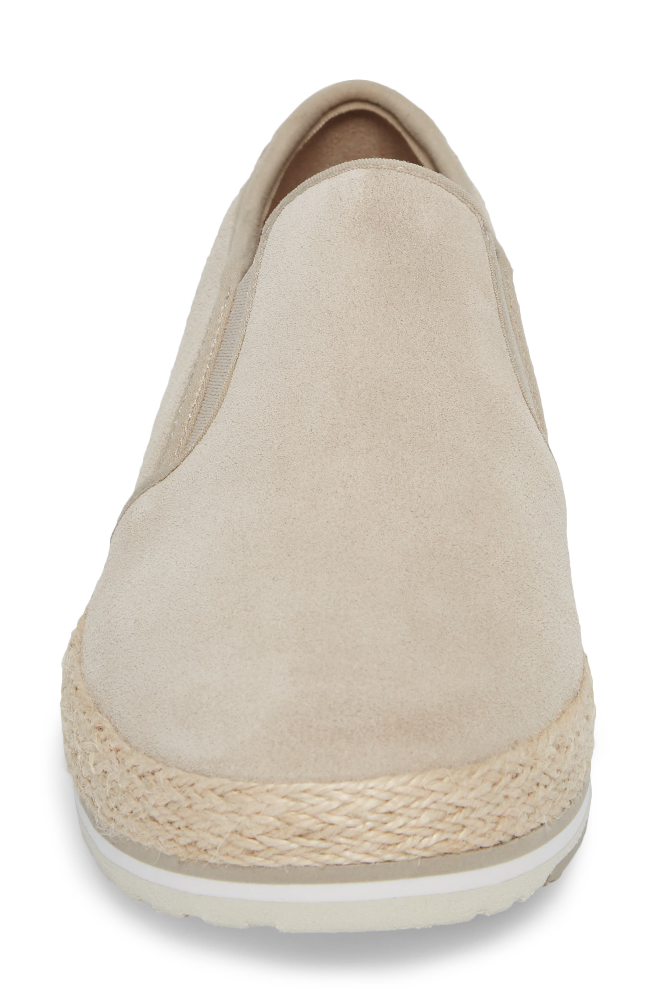 Eivissa Sea Slip-On Sneaker,                             Alternate thumbnail 4, color,                             LIGHT BEIGE LEATHER