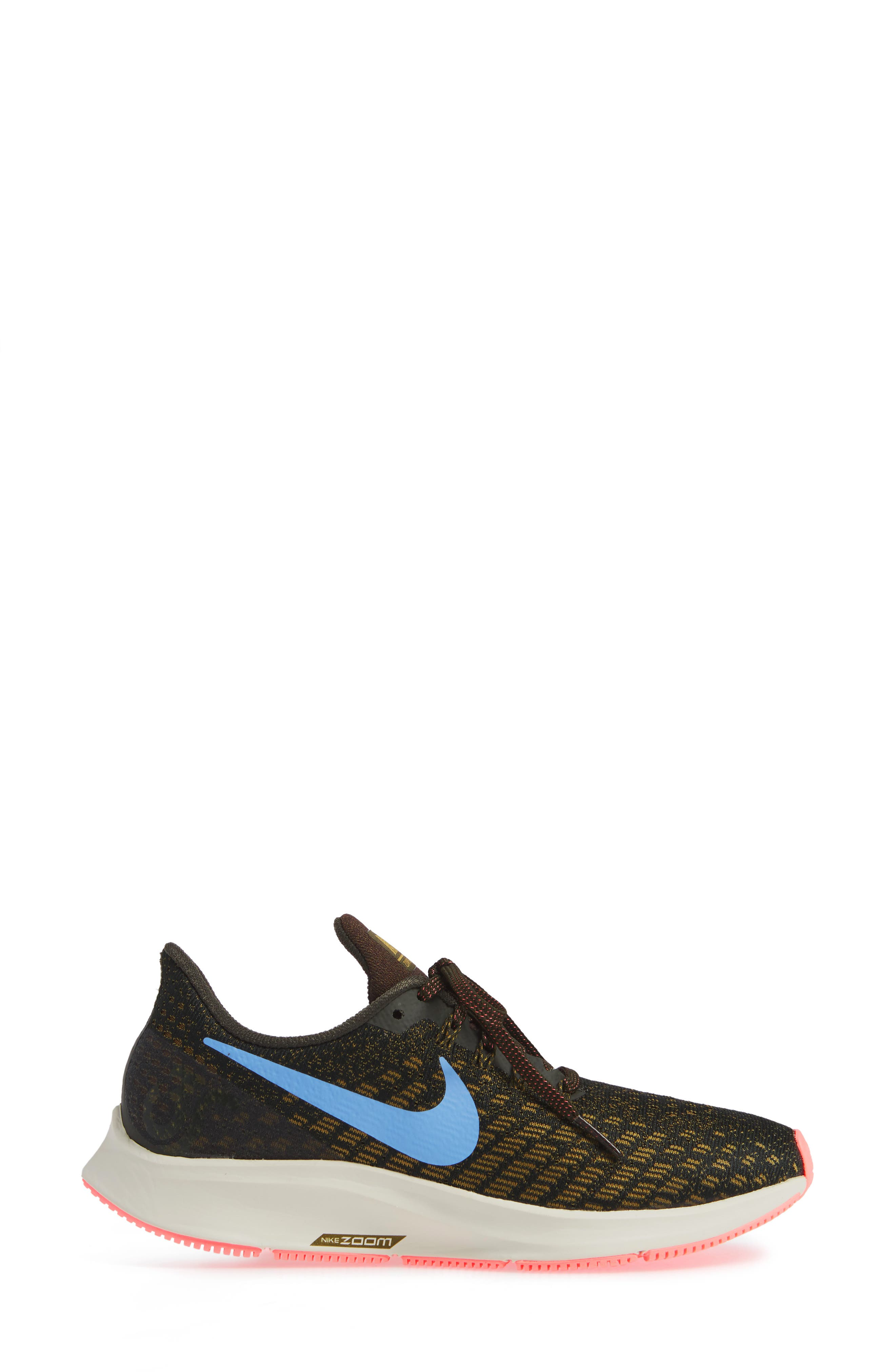 Air Zoom Pegasus 35 Running Shoe,                             Alternate thumbnail 3, color,                             SEQUOIA/ ROYAL PULSE-OLIVE