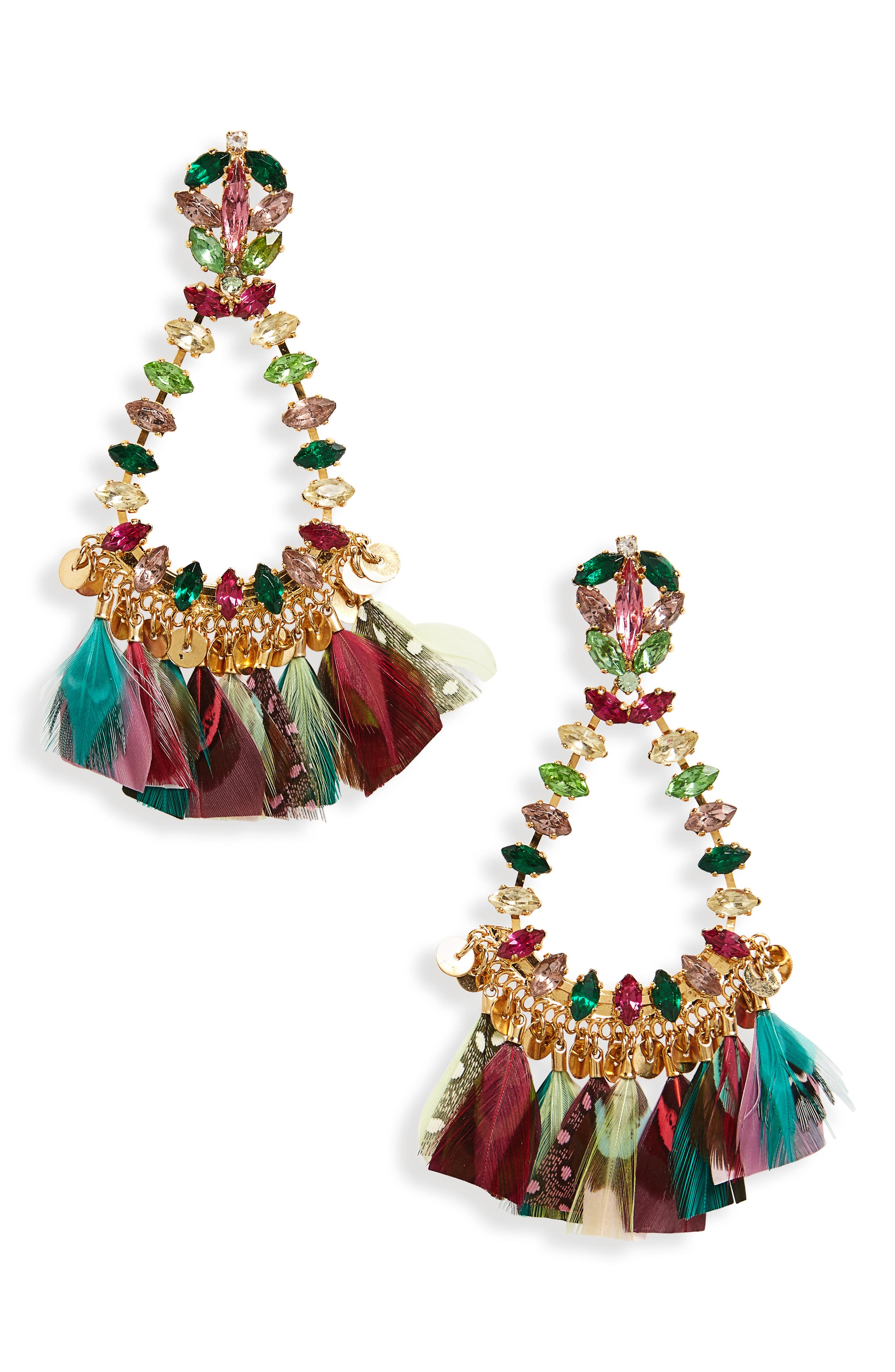 Riviera Statement Earrings,                             Main thumbnail 2, color,