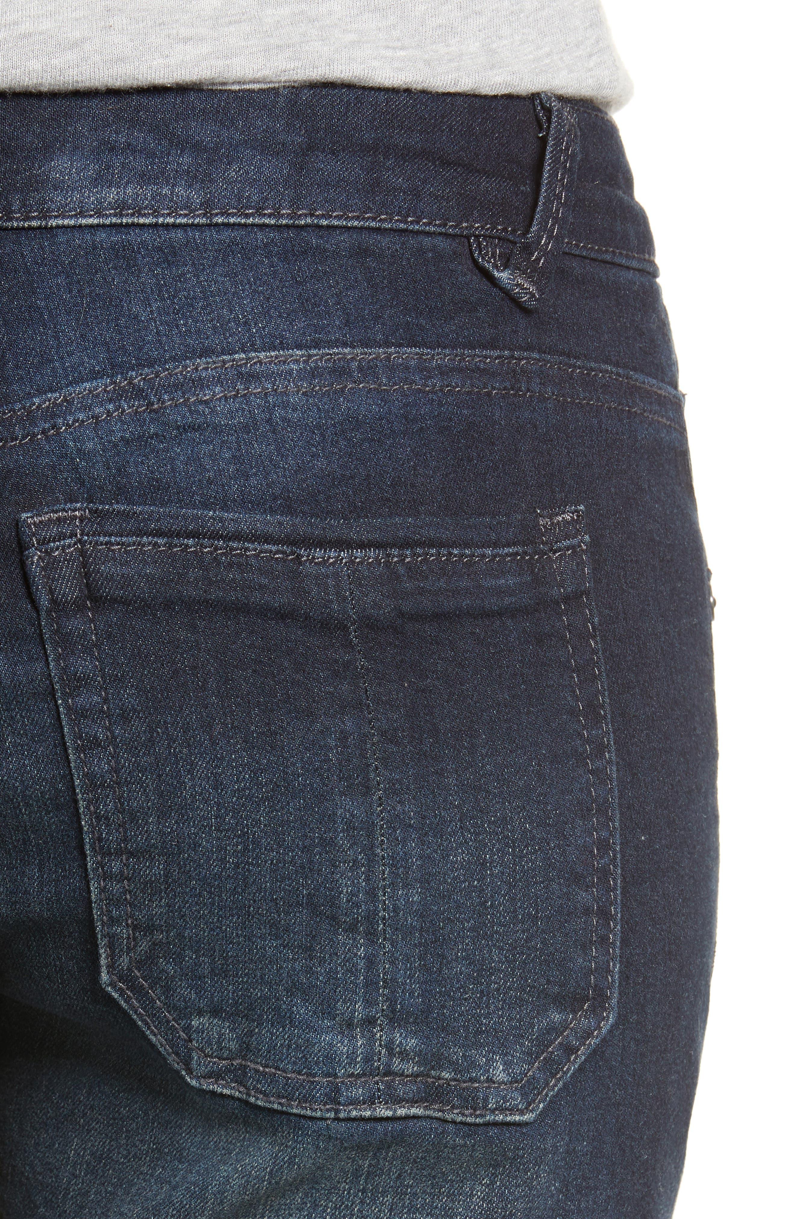 Seamless Ankle Skimmer Jeans,                             Alternate thumbnail 4, color,                             INDIGO