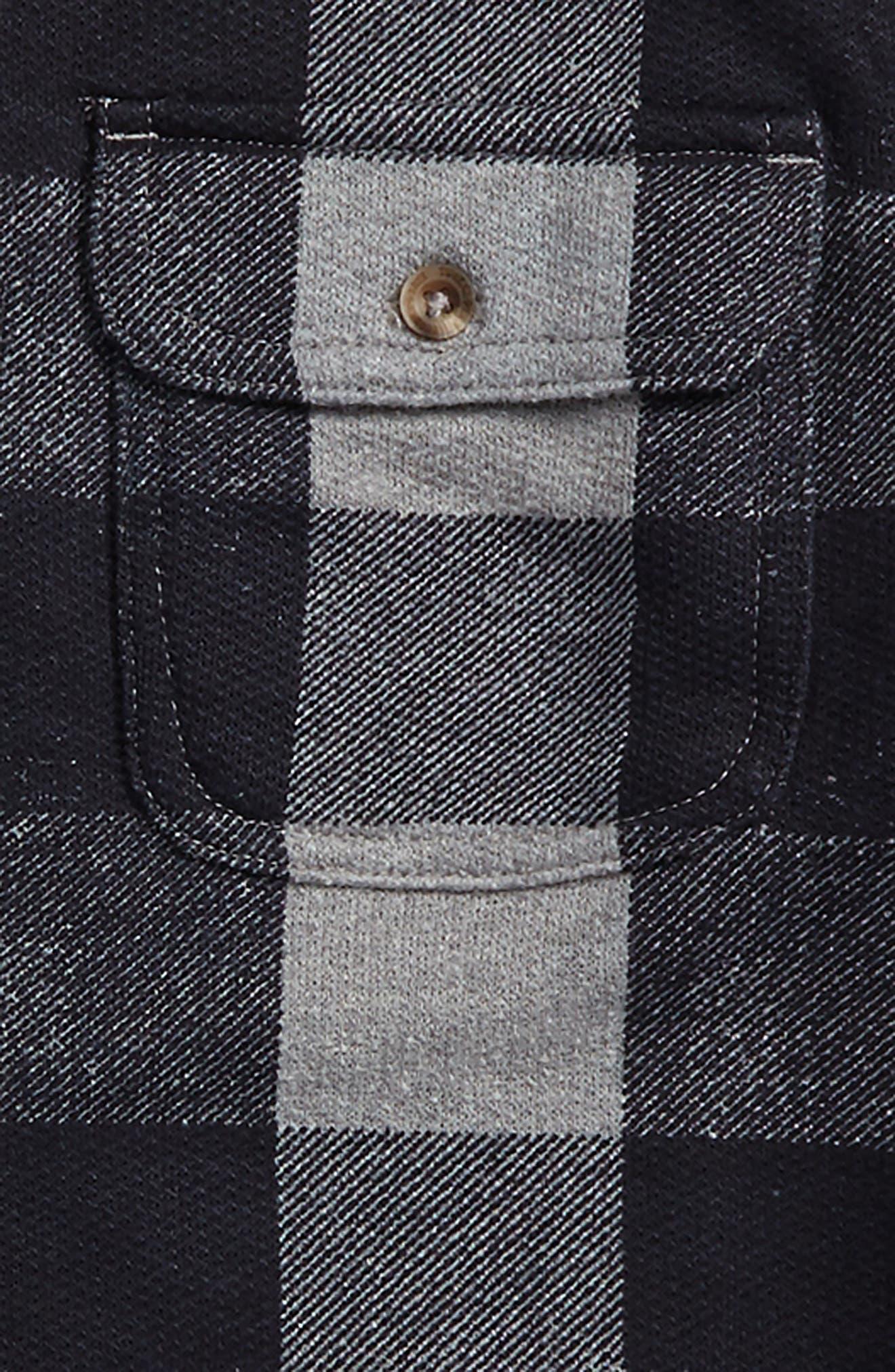 Woven Plaid Shirt,                             Alternate thumbnail 2, color,                             001