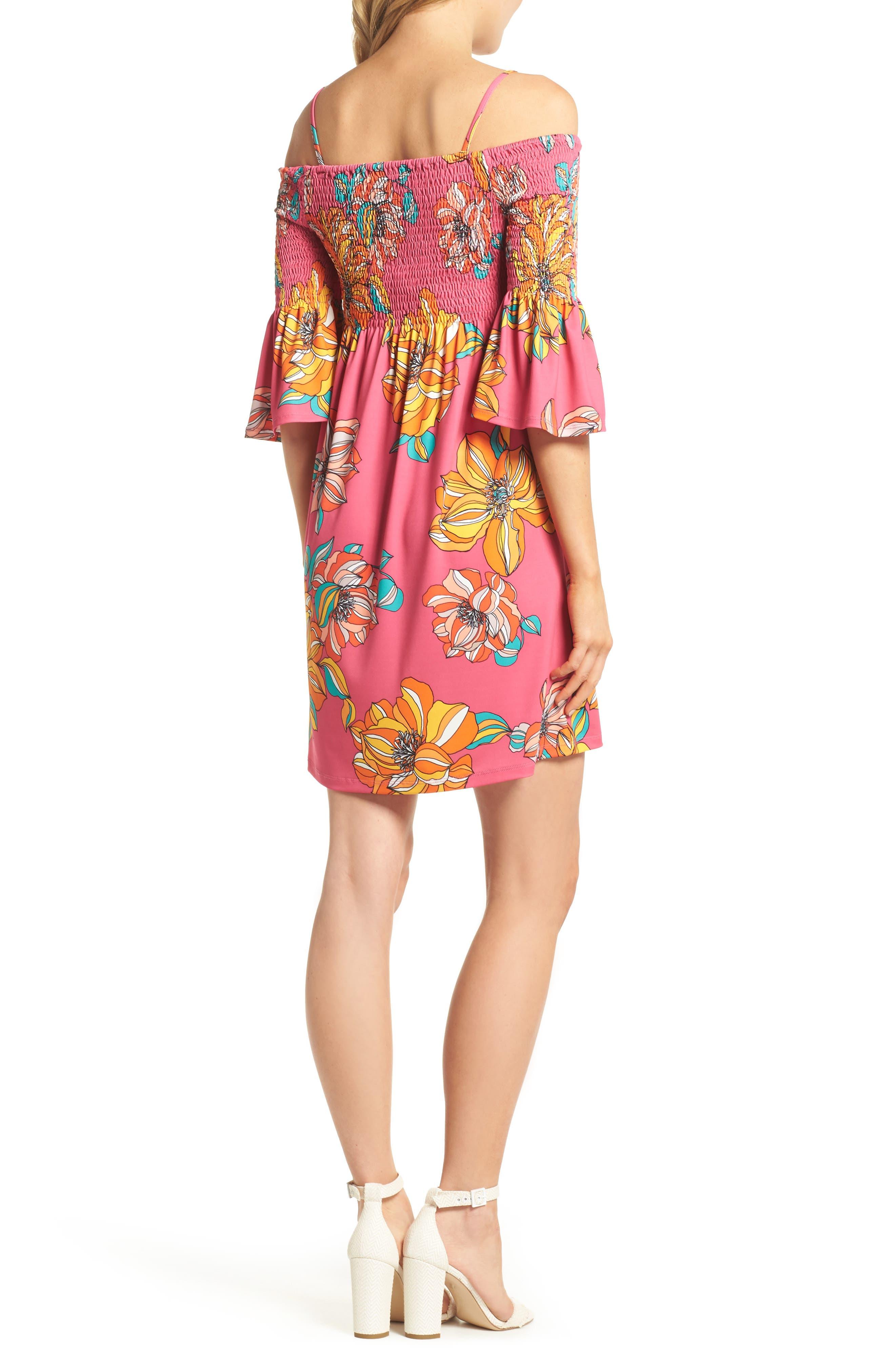 Ventana Cold Shoulder Babydoll Dress,                             Alternate thumbnail 2, color,