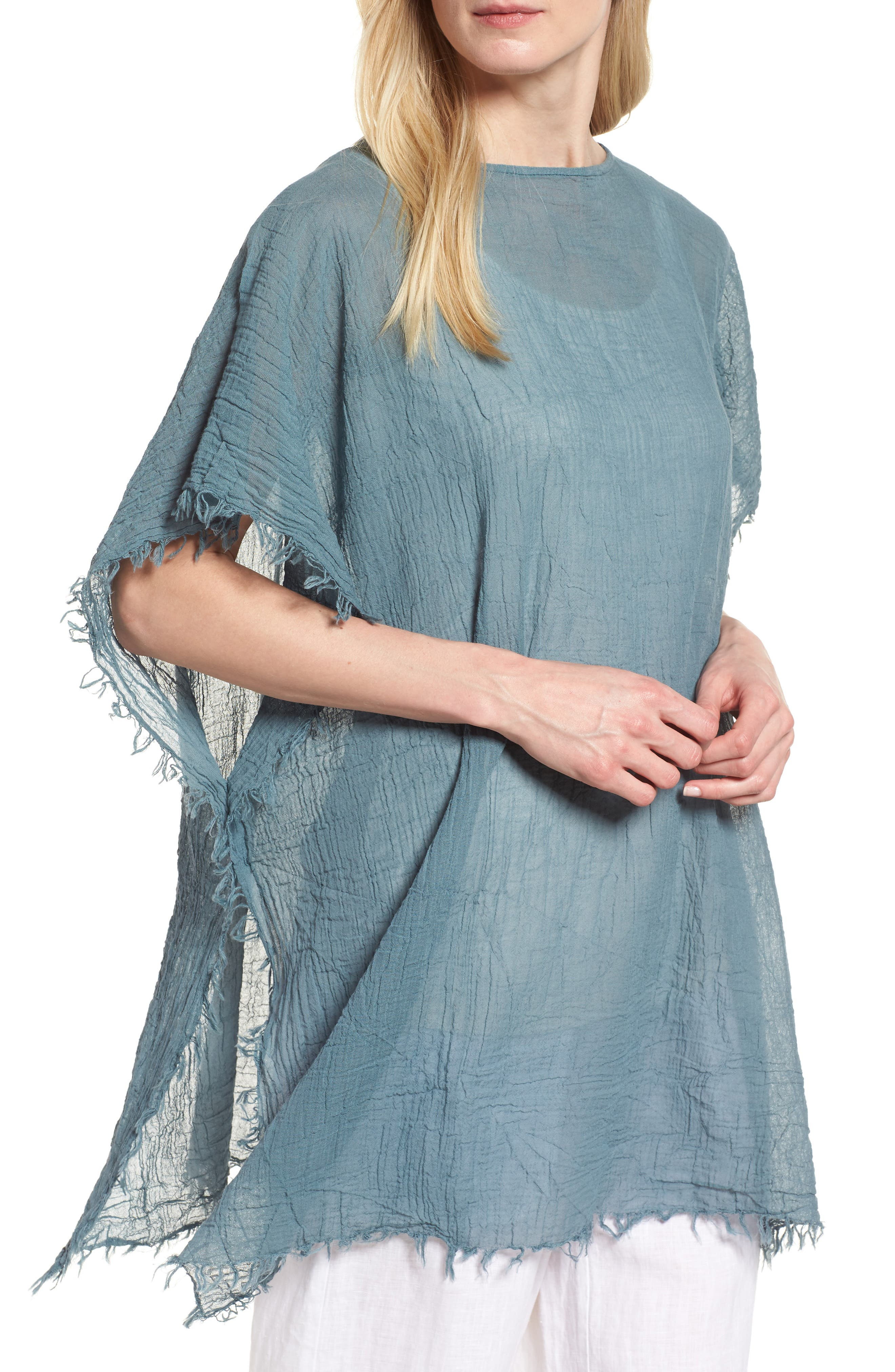 Organic Cotton Poncho,                             Main thumbnail 3, color,