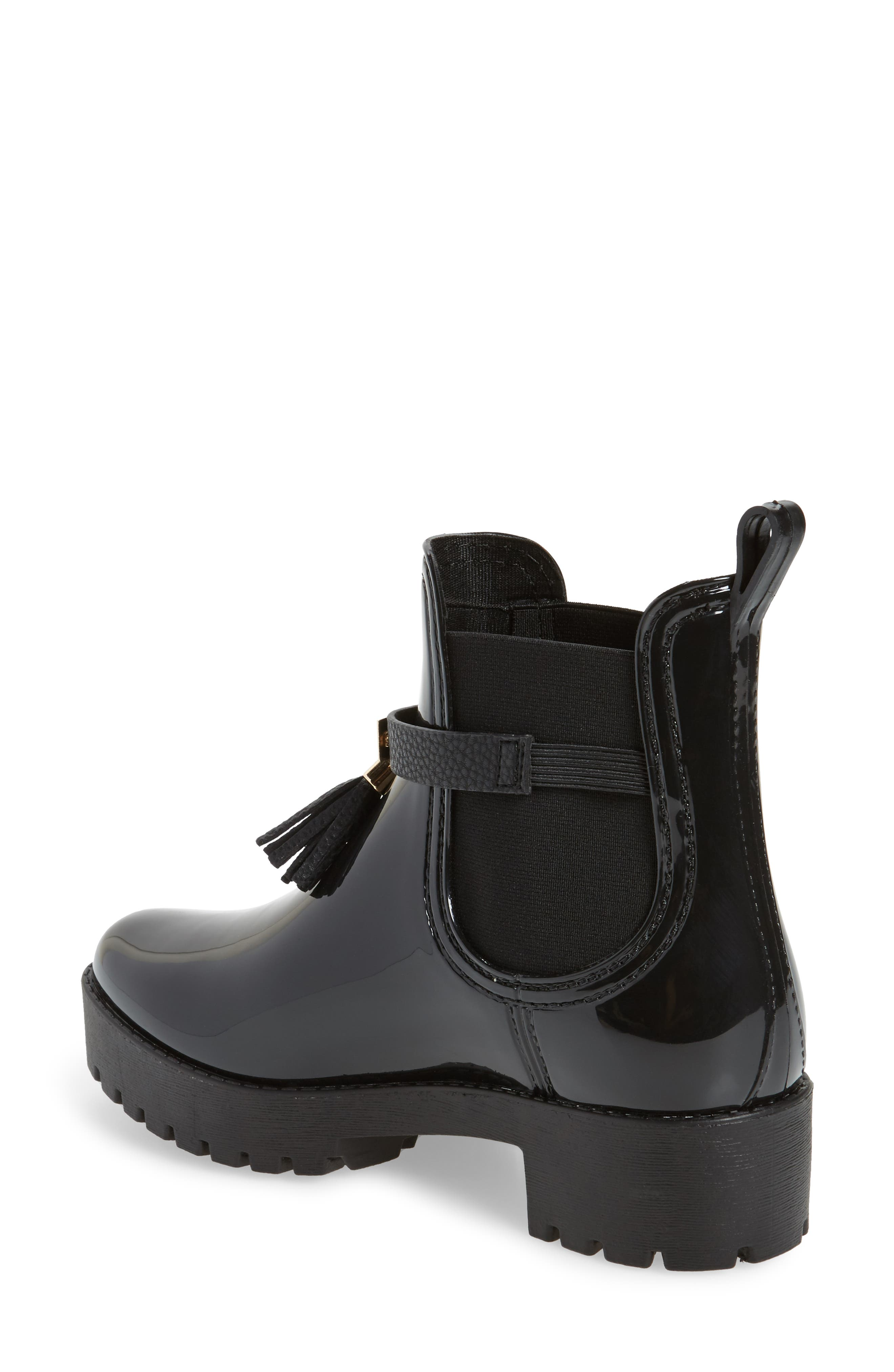 Leeds Tassel Waterproof Chelsea Boot,                             Alternate thumbnail 2, color,                             001