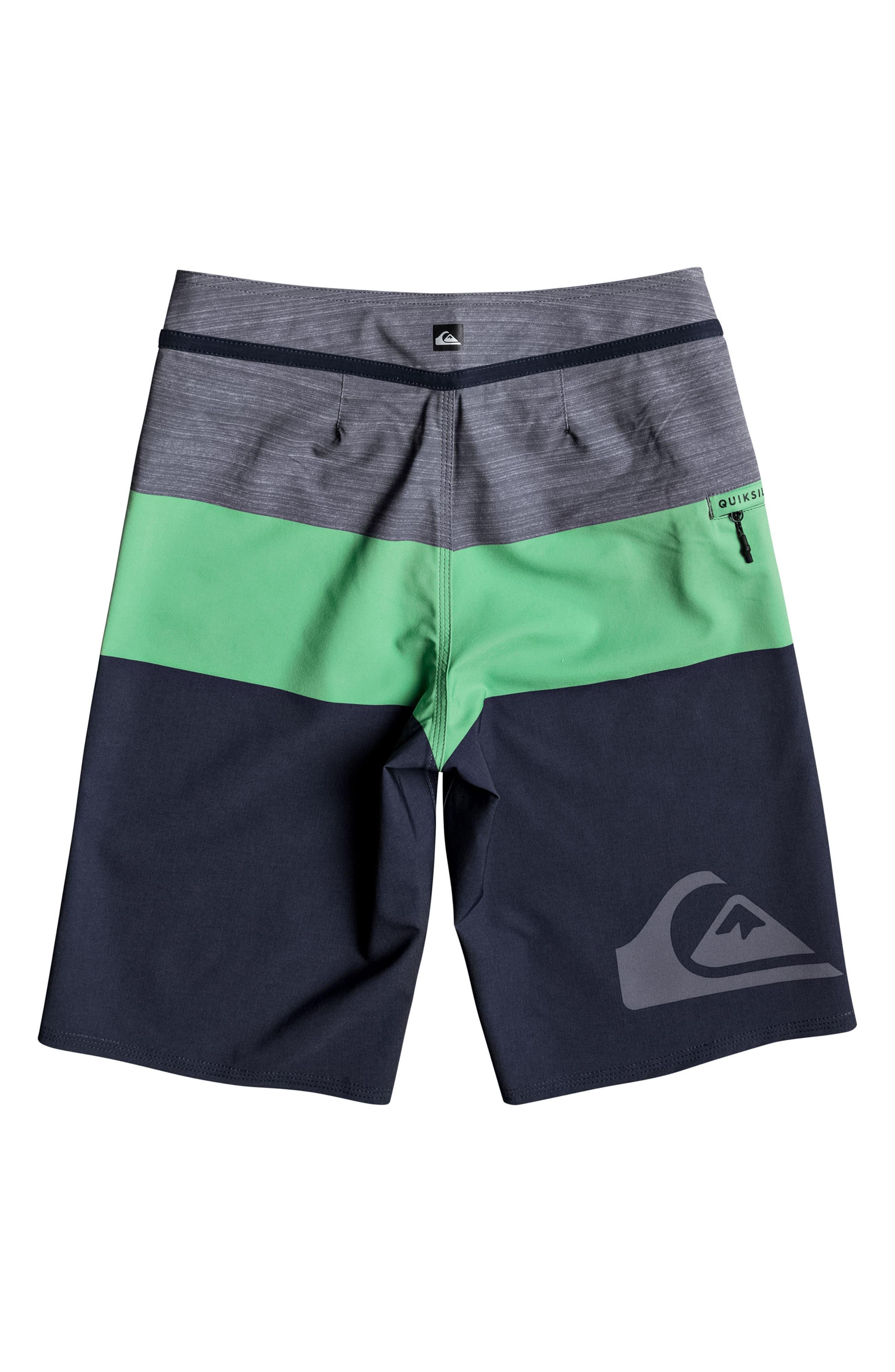 Everyday Blocked Vee Board Shorts,                             Alternate thumbnail 2, color,                             328