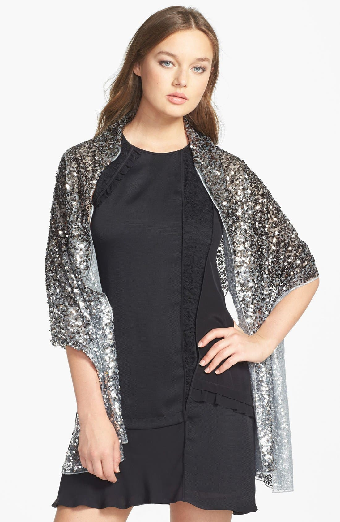 BETSEY JOHNSON Sequin Wrap, Main, color, 040