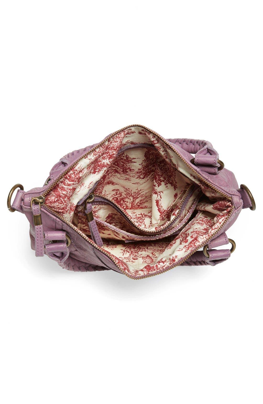 'Vintage Gina' Soft Leather Handbag,                             Alternate thumbnail 3, color,                             500