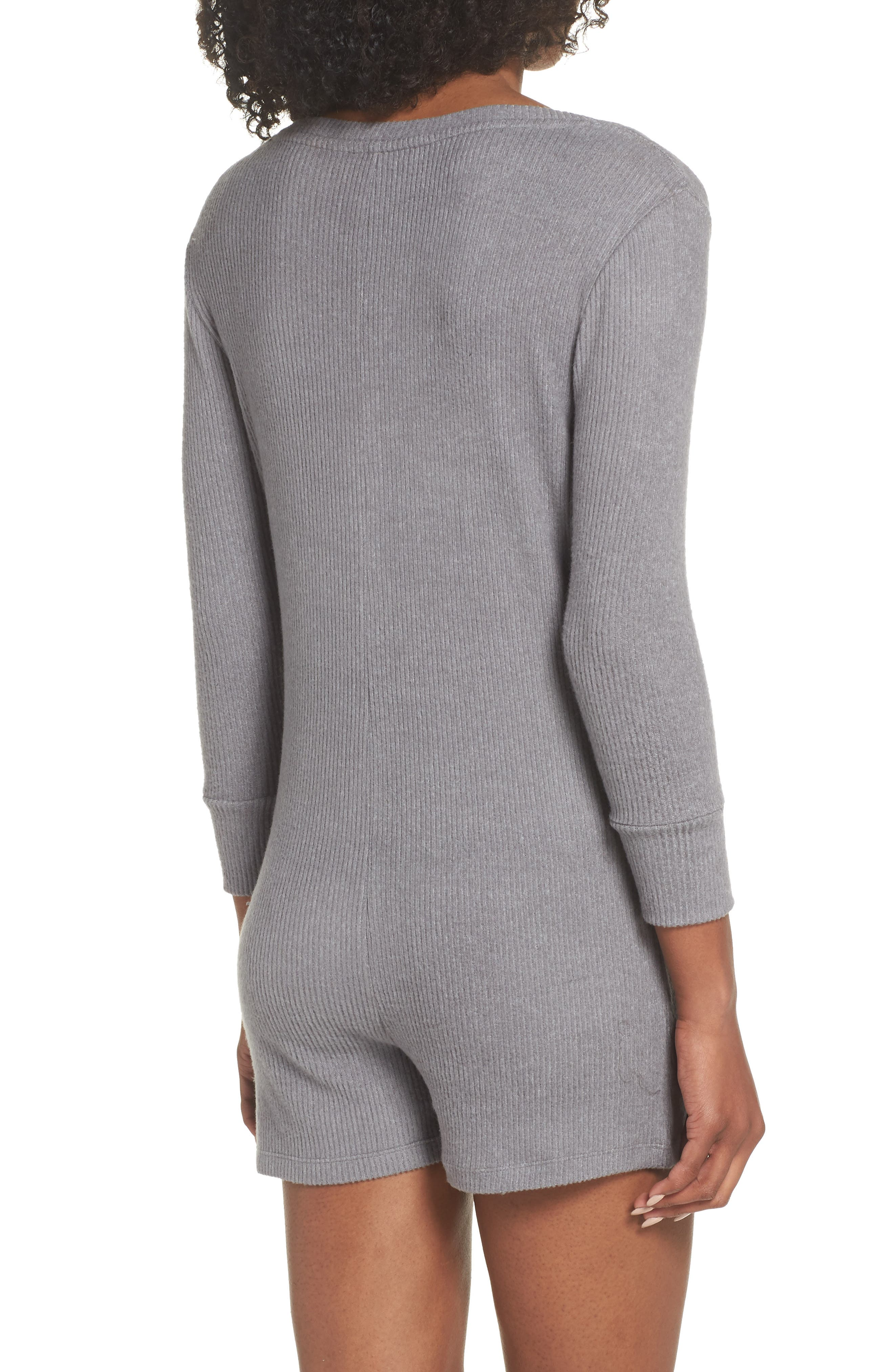 Joes' Henley Romper,                             Alternate thumbnail 2, color,                             HEATHER GRAY