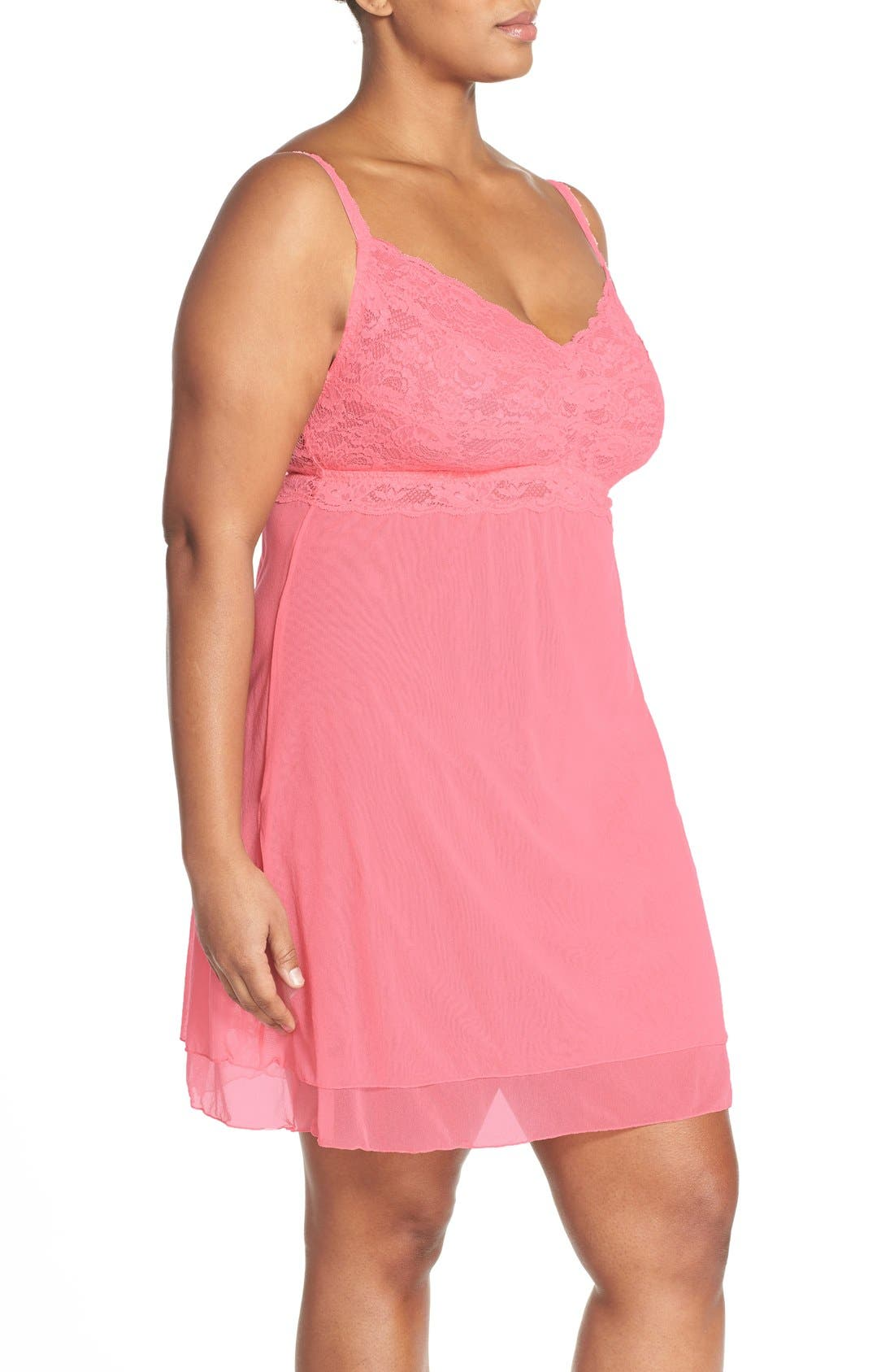 'Never Say Never' Babydoll Chemise,                             Alternate thumbnail 17, color,