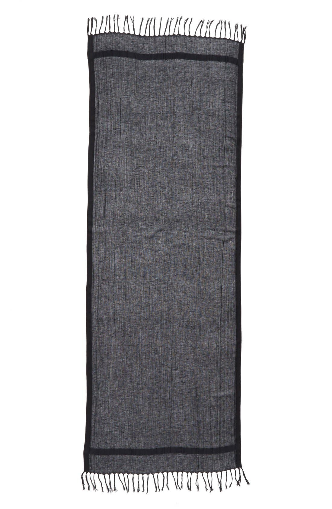 Caslon<sup>®</sup> Linen Blend Scarf,                             Alternate thumbnail 6, color,                             001