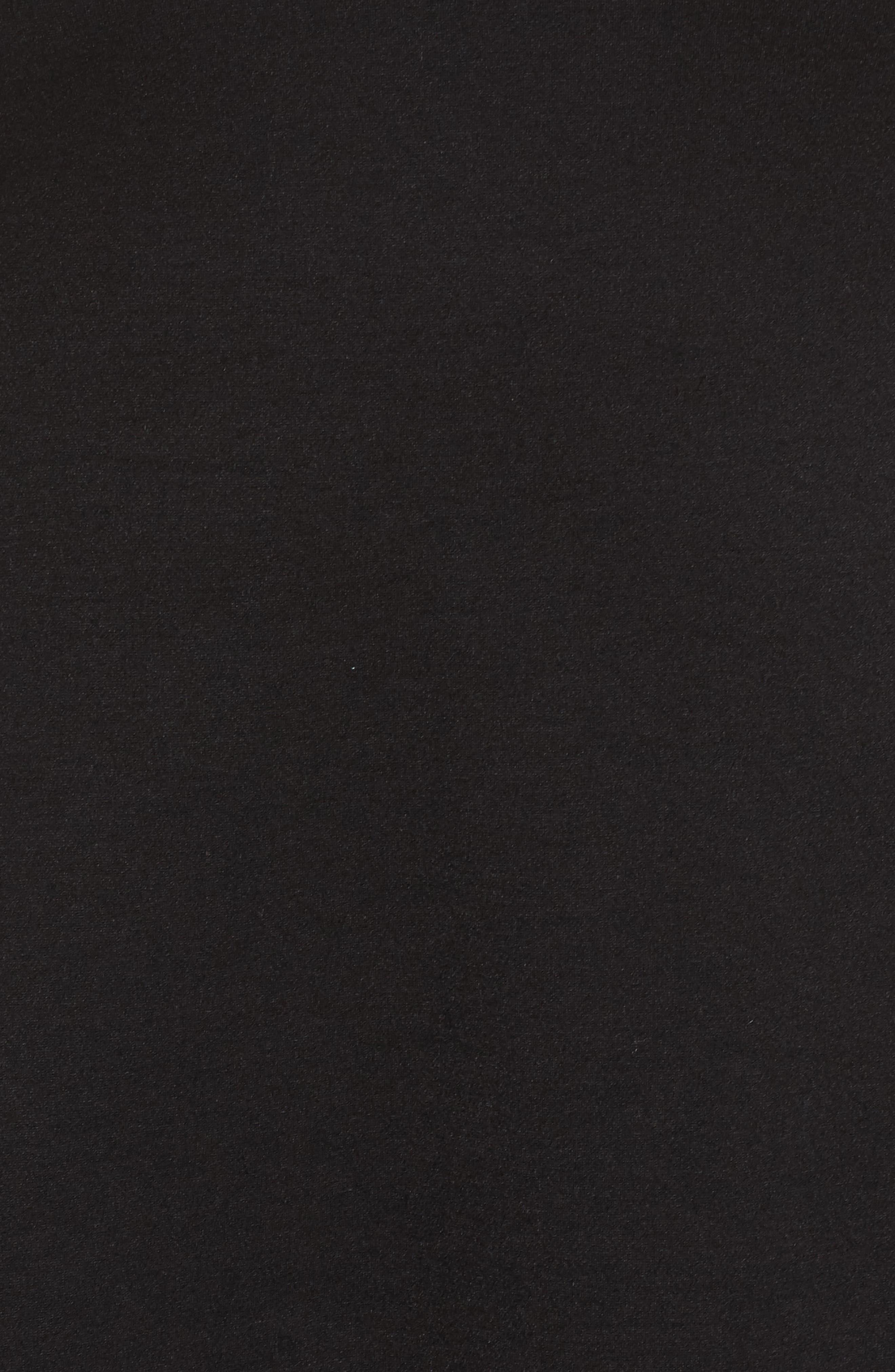 V-Neck Ponte Fit & Flare Dress,                             Alternate thumbnail 6, color,                             BLACK