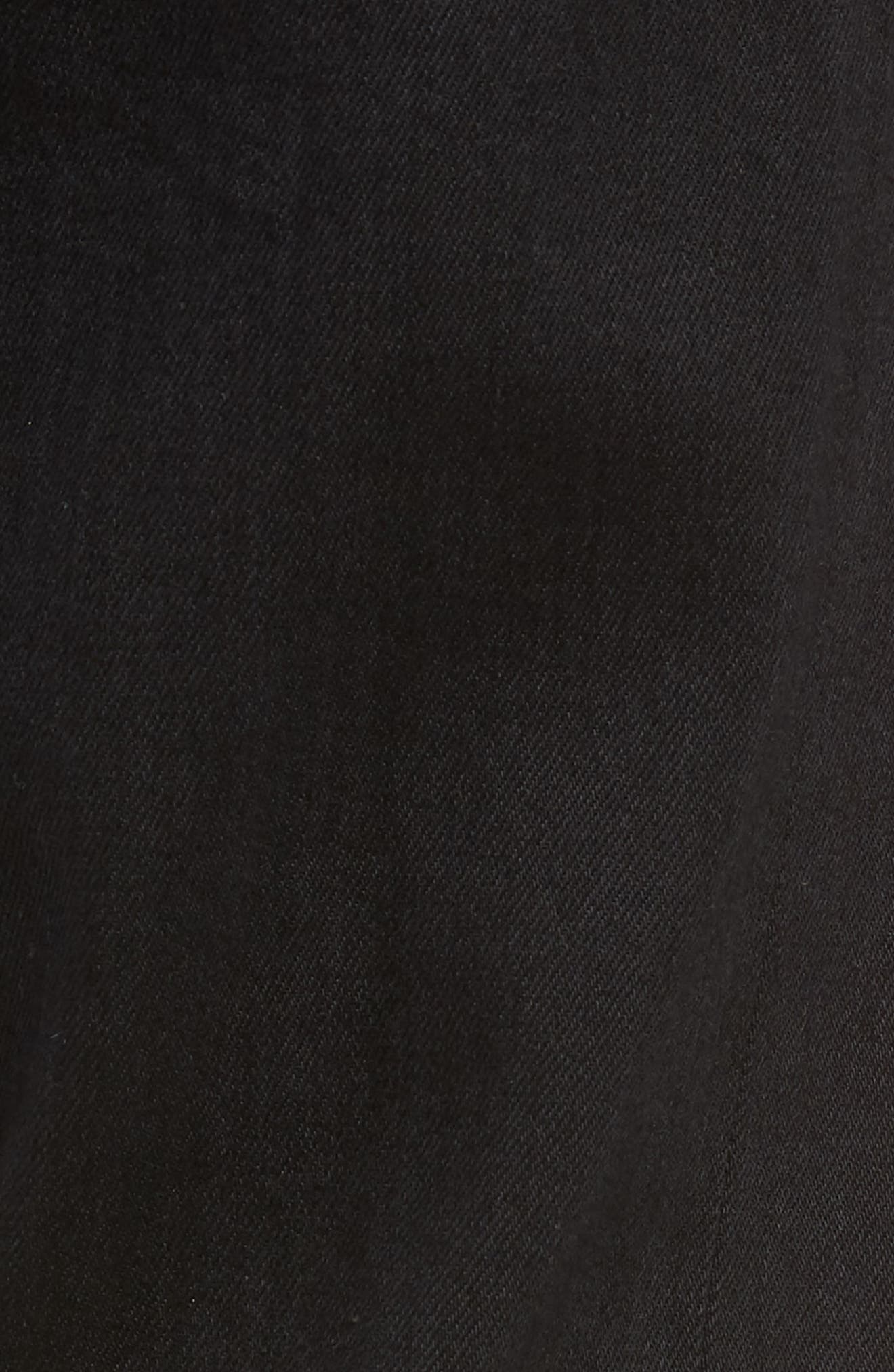 Lou Slim Fit Jeans,                             Alternate thumbnail 5, color,                             BLACK SELVEDGE