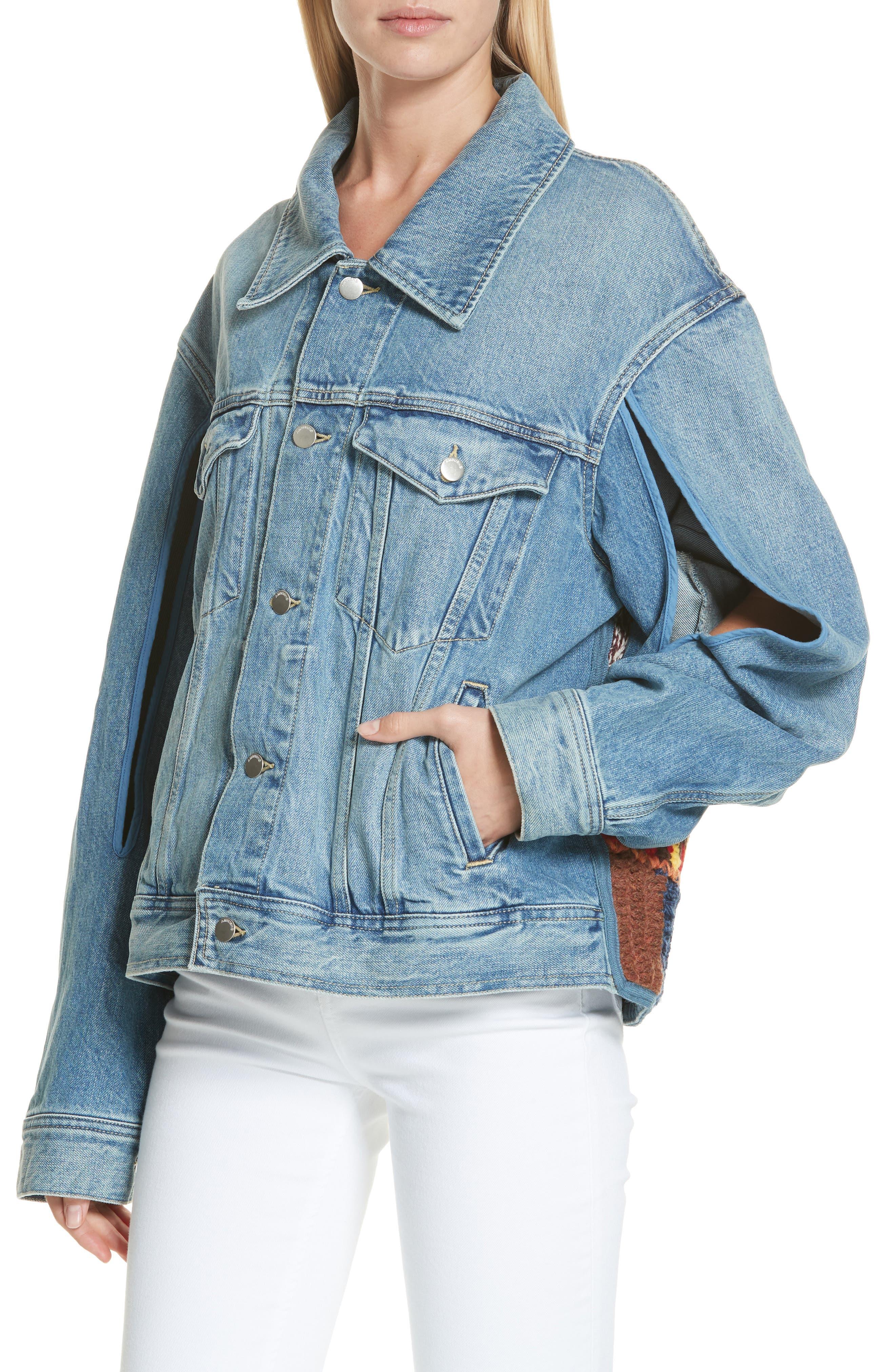 Denim Jacket,                             Alternate thumbnail 4, color,                             BLUE