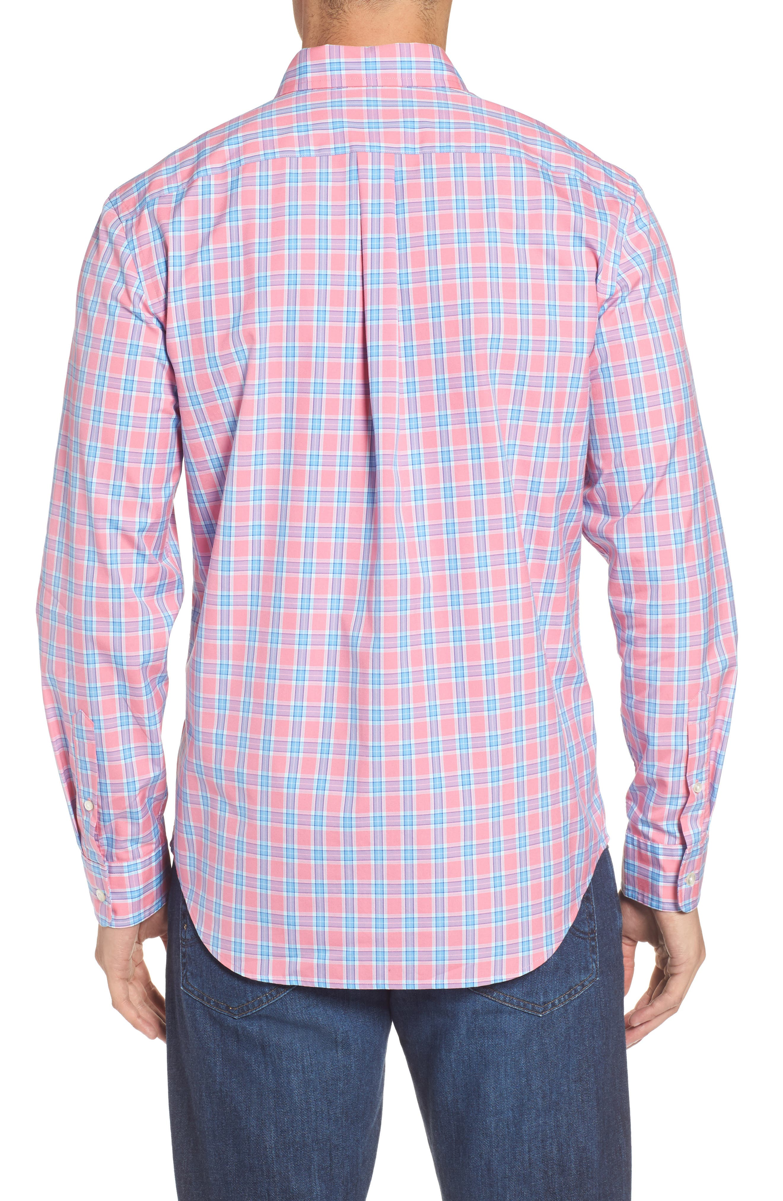 Tucker Bayard Classic Fit Plaid Sport Shirt,                             Alternate thumbnail 2, color,                             650