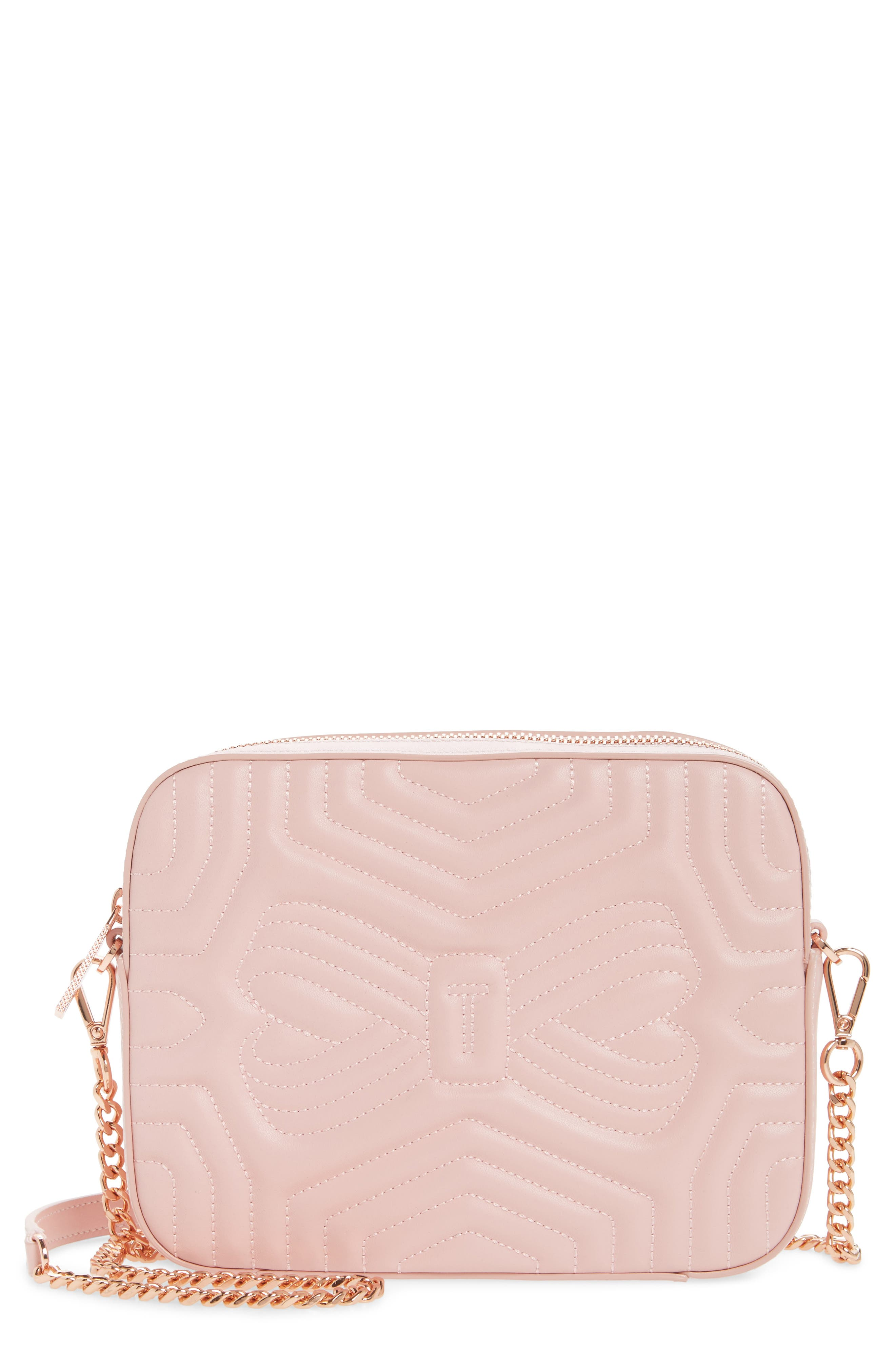 Sunshine Quilted Leather Camera Crossbody Bag,                             Main thumbnail 4, color,
