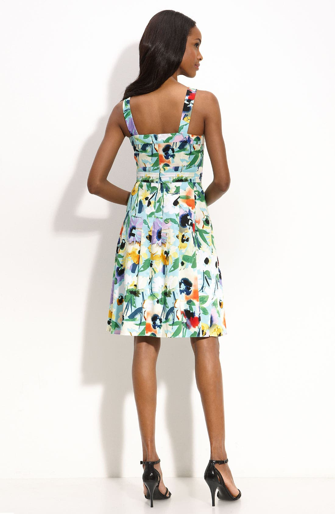 ADRIANNA PAPELL,                             Floral Print Party Dress,                             Alternate thumbnail 2, color,                             441