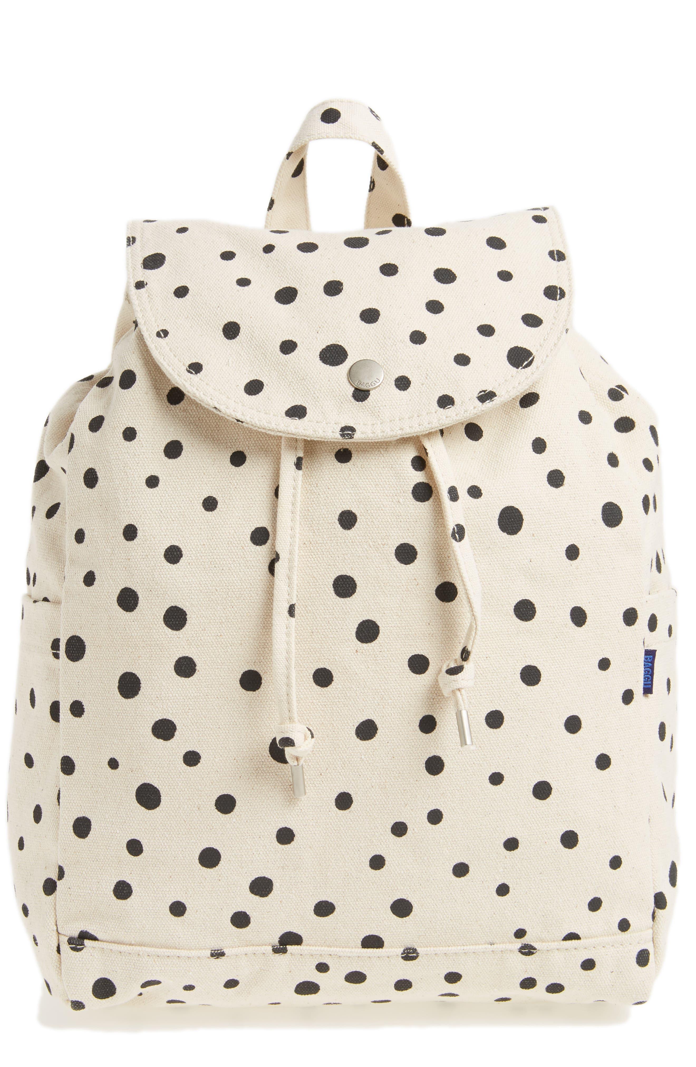 Drawstring Canvas Backpack,                         Main,                         color, 002