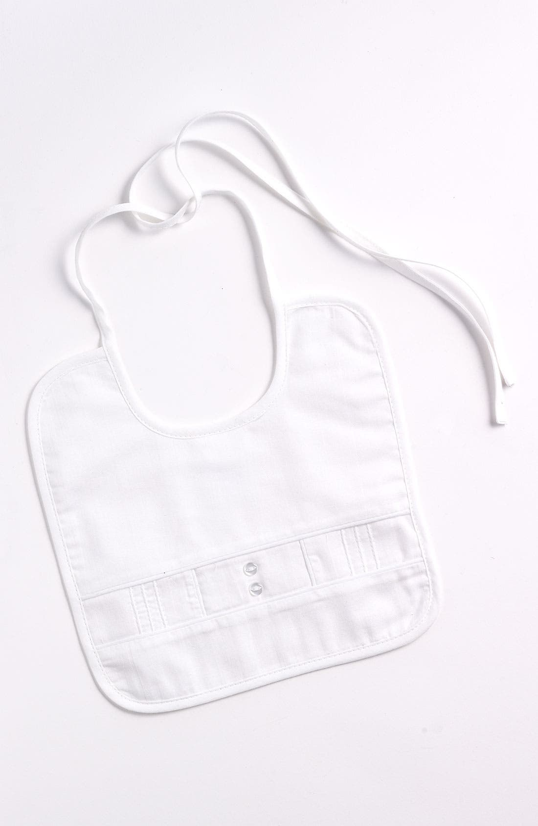 Sateen Bib,                             Main thumbnail 1, color,                             WHITE