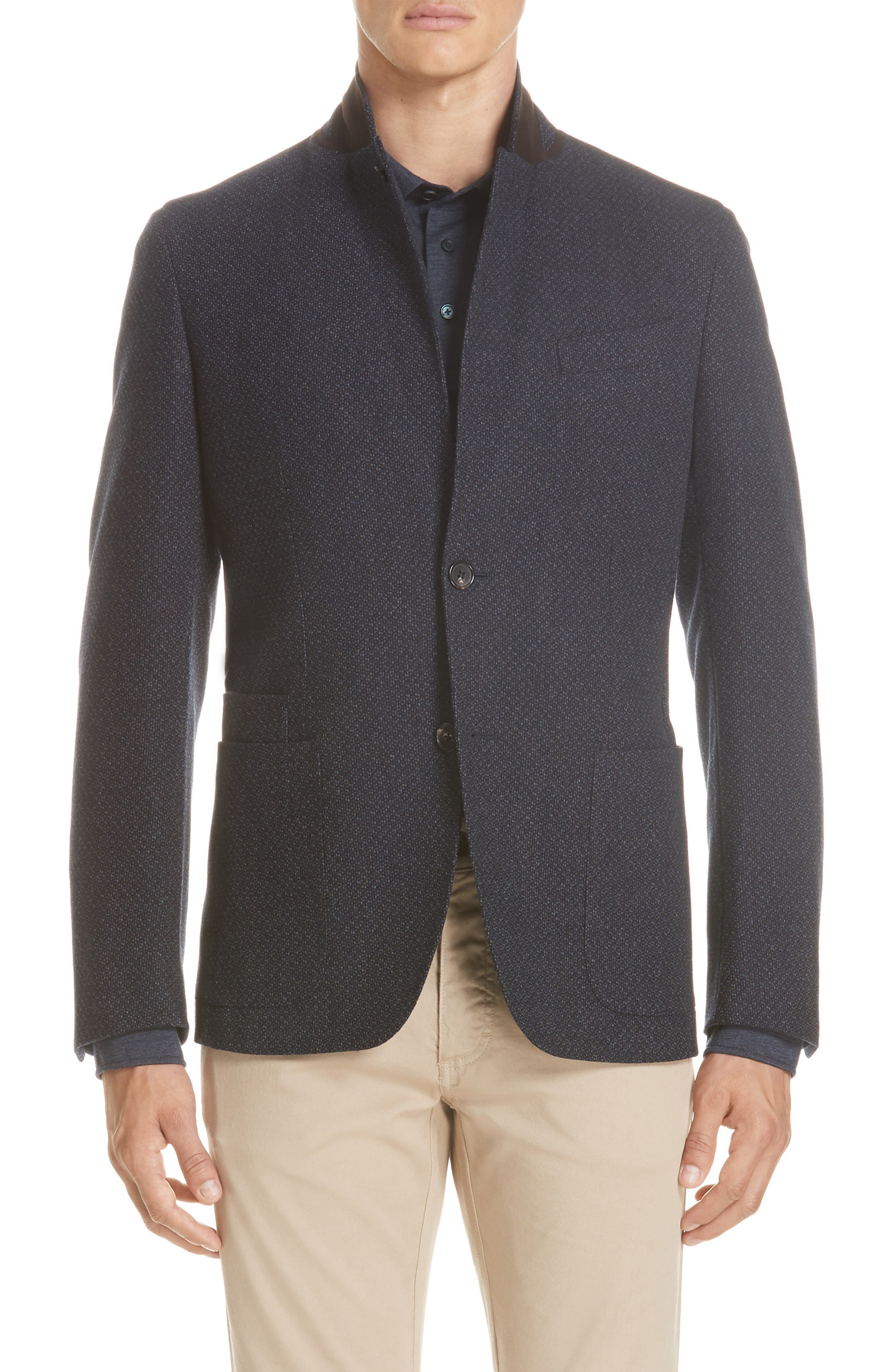 Trim Fit Wool & Cashmere Sport Coat,                             Main thumbnail 1, color,                             416