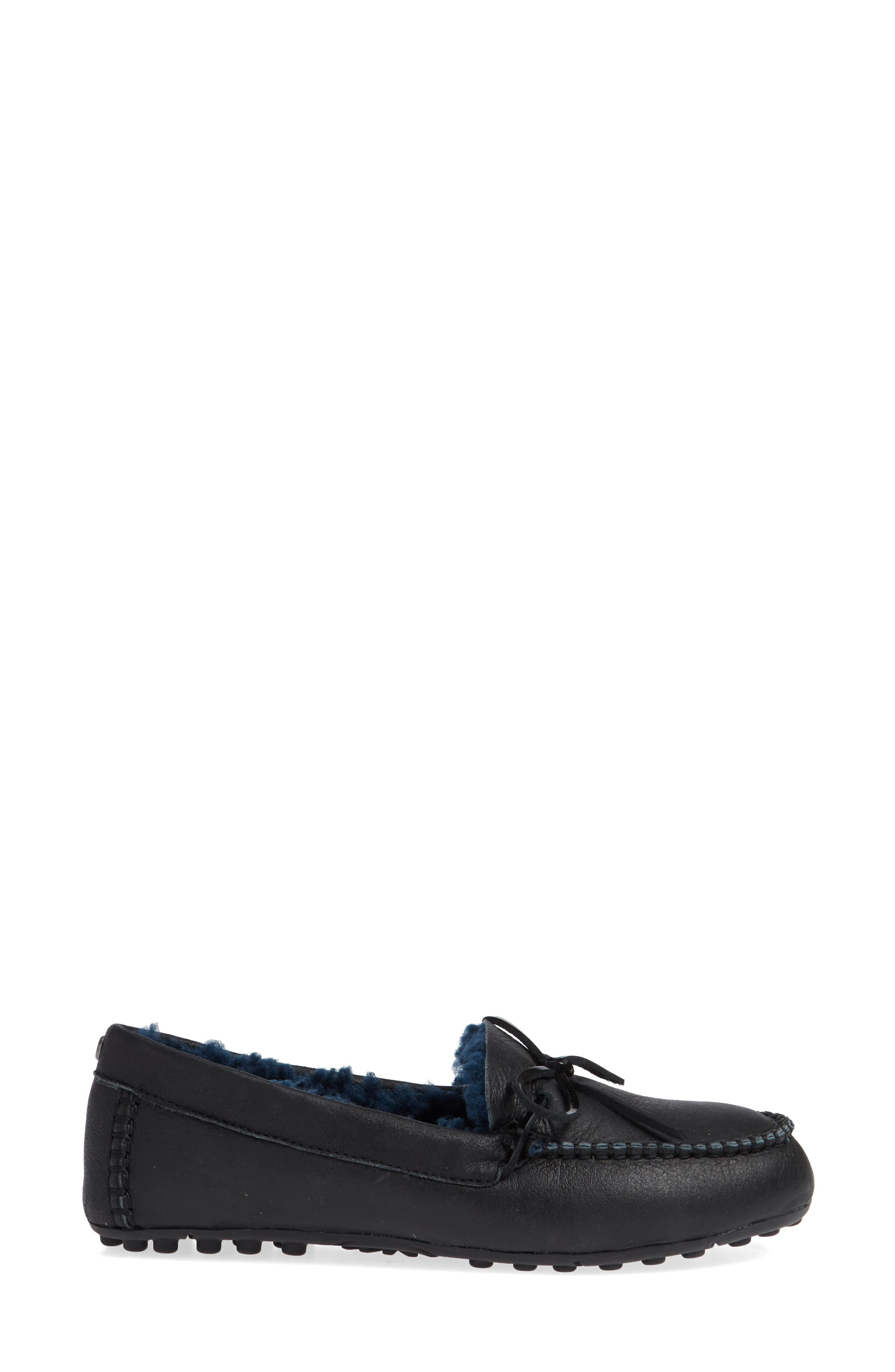 Deluxe Loafer,                             Alternate thumbnail 3, color,                             BLACK LEATHER