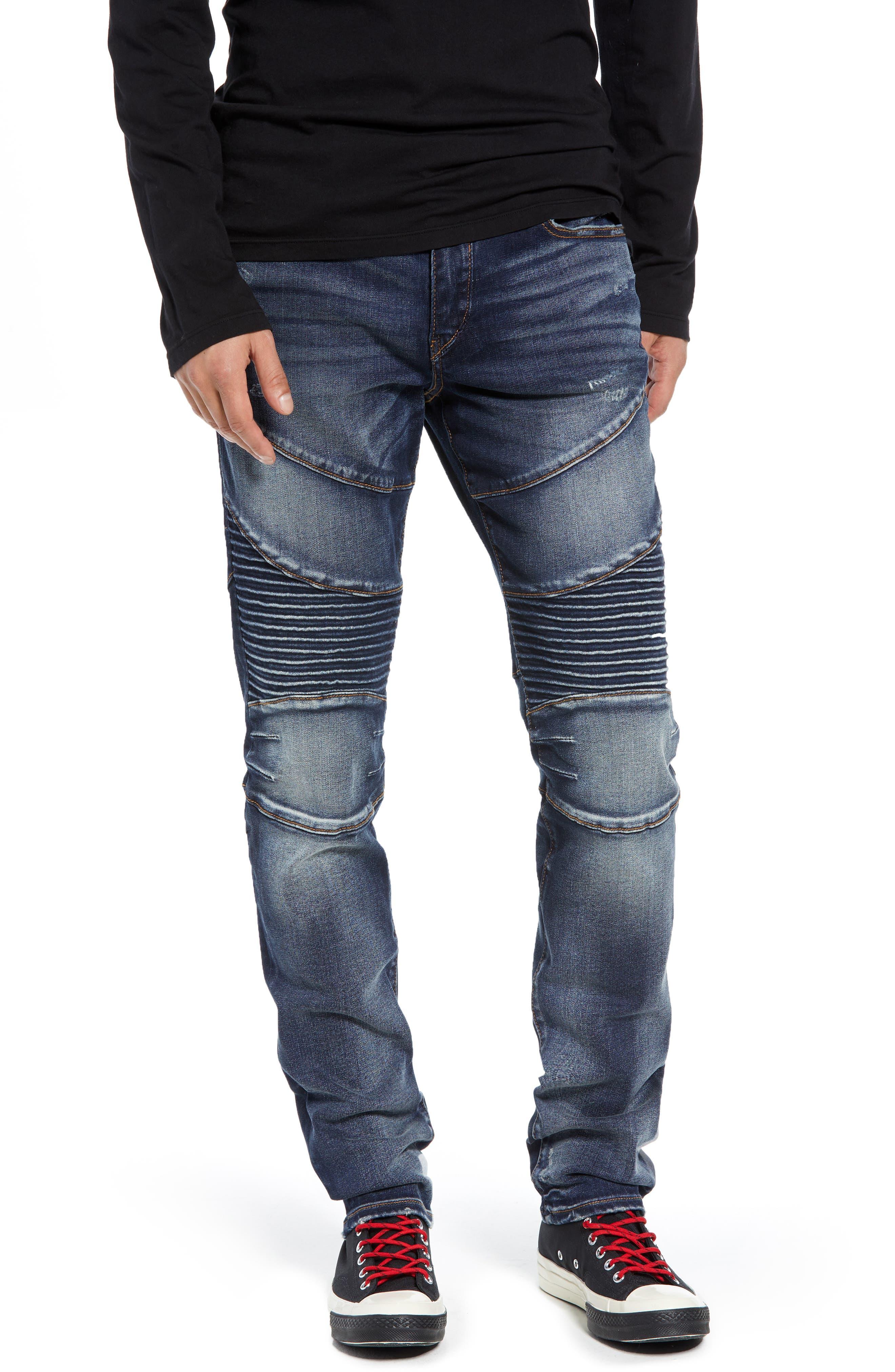 Rocco Skinny Fit Moto Jeans,                         Main,                         color, MINERAL ASPHALT