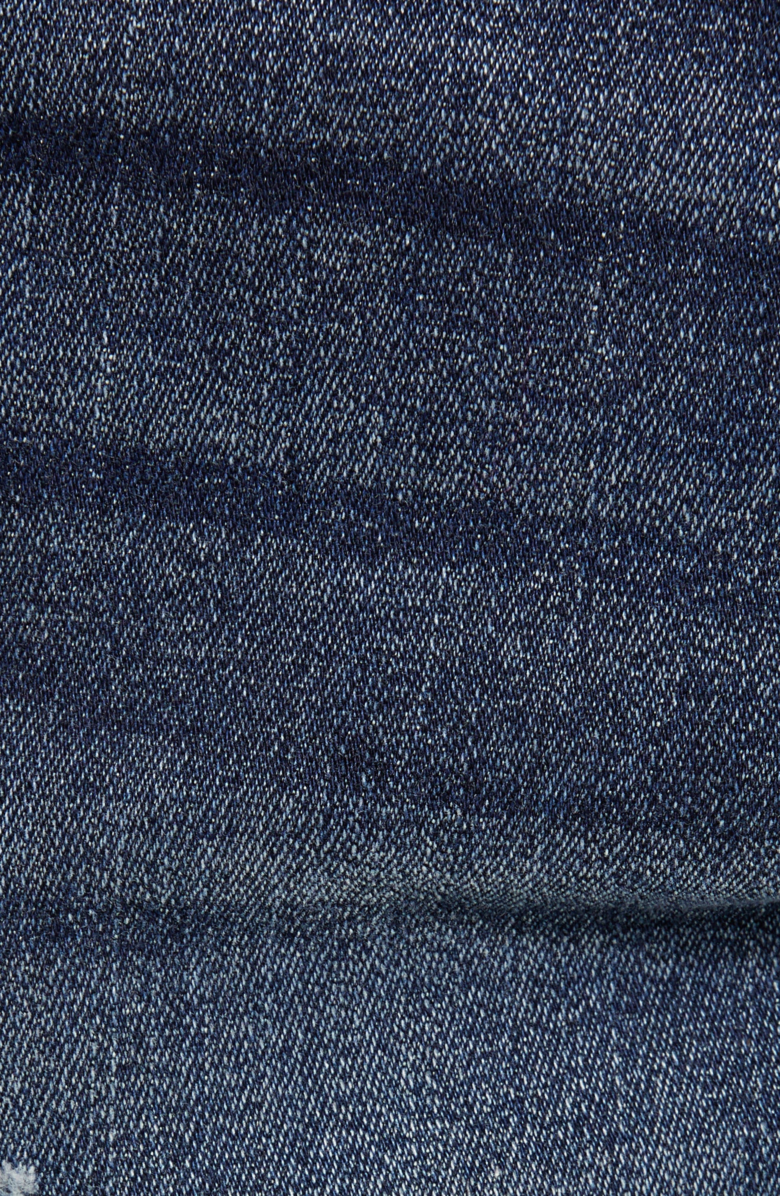 Rocco Skinny Fit Moto Jeans,                             Alternate thumbnail 5, color,                             MINERAL ASPHALT