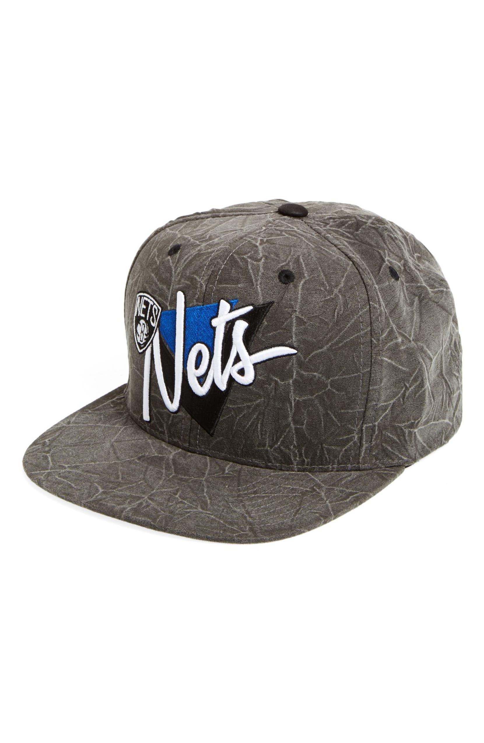 free shipping e6a68 37dd9 Mitchell   Ness  Brooklyn Nets - Crease Triangle  Snapback Baseball Cap    Nordstrom