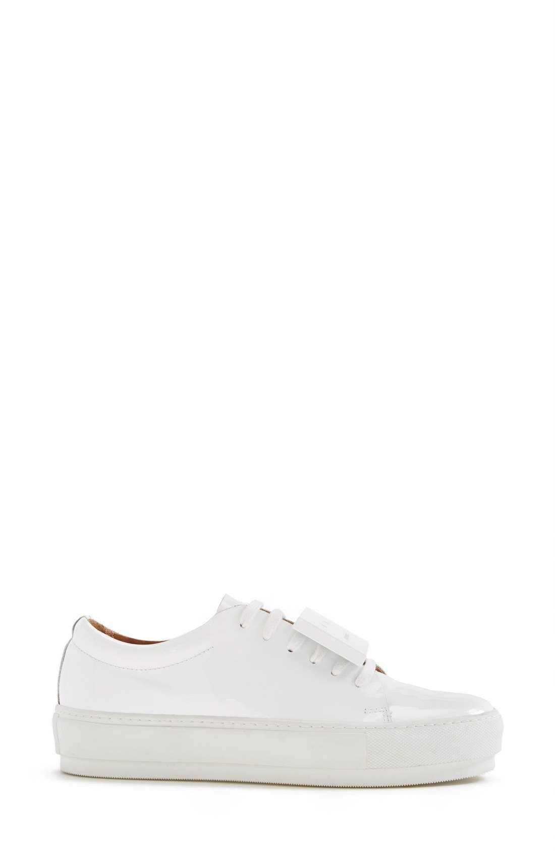 Adriana Leather Sneaker,                             Alternate thumbnail 4, color,                             100