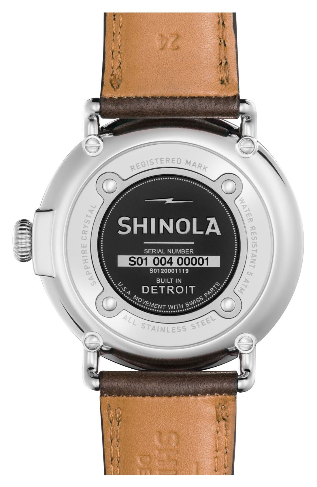 'The Runwell' Leather Strap Watch, 47mm,                             Alternate thumbnail 25, color,