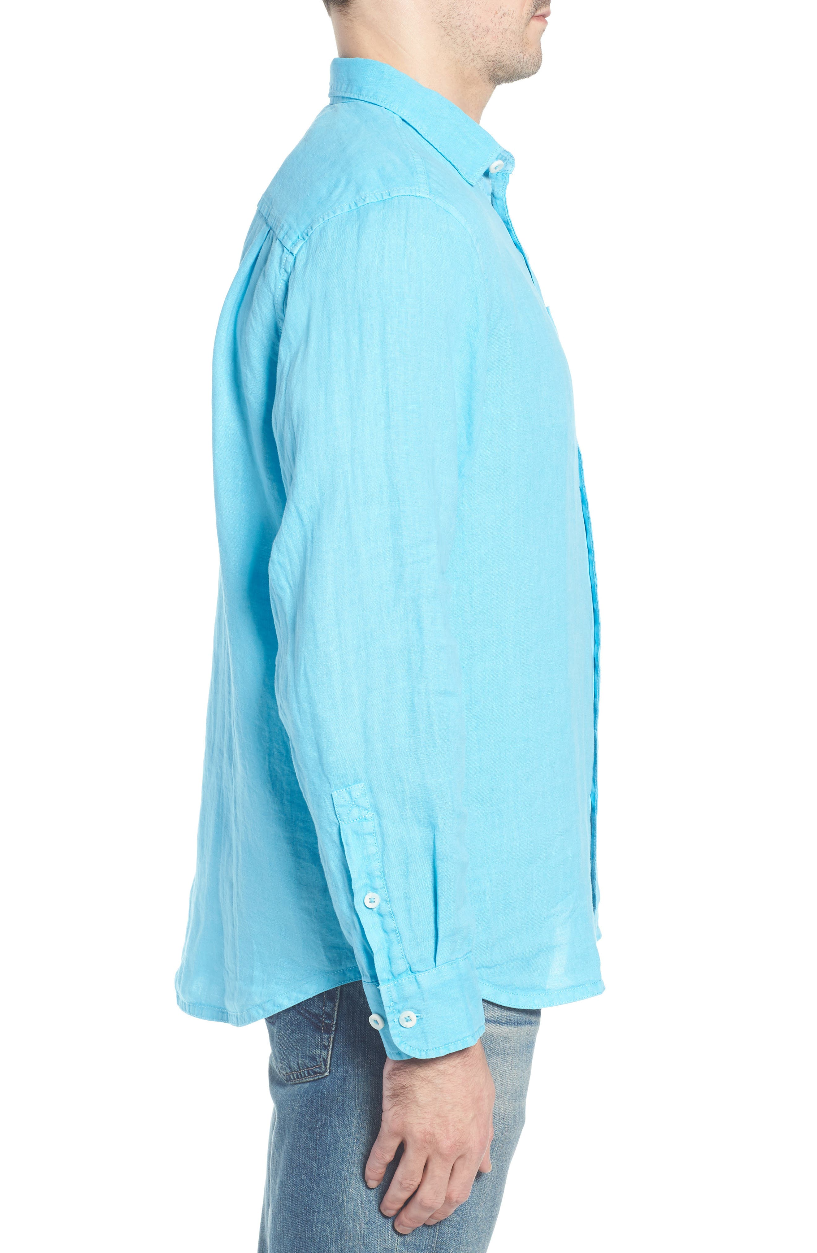 Seaspray Breezer Linen Shirt,                             Alternate thumbnail 11, color,