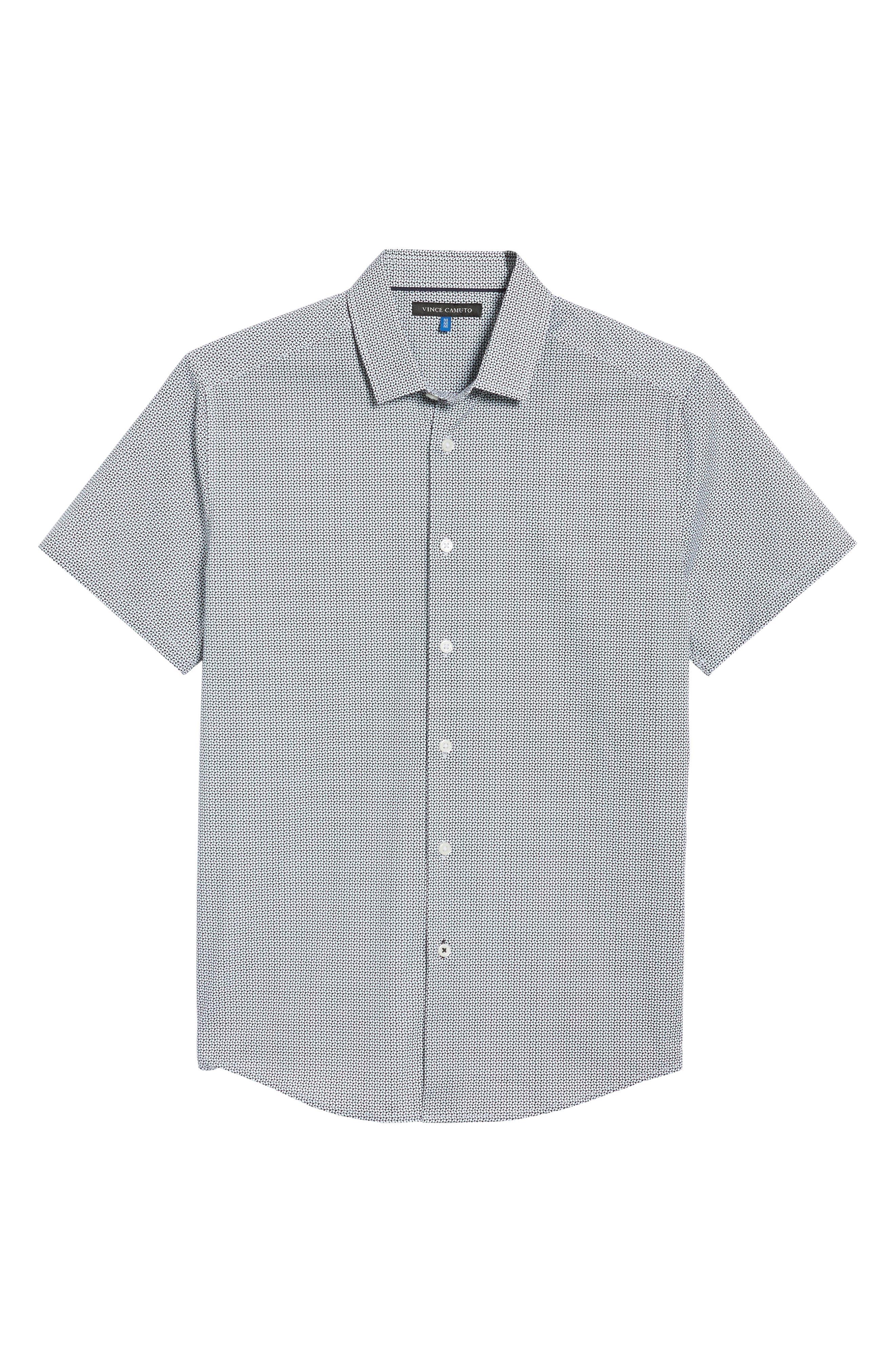 Slim Fit Geo Print Sport Shirt,                             Alternate thumbnail 6, color,                             007