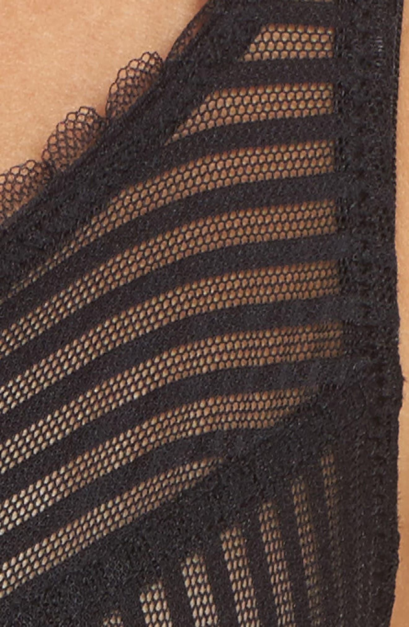 Shiny Stripe Underwire Bra,                             Alternate thumbnail 6, color,                             001