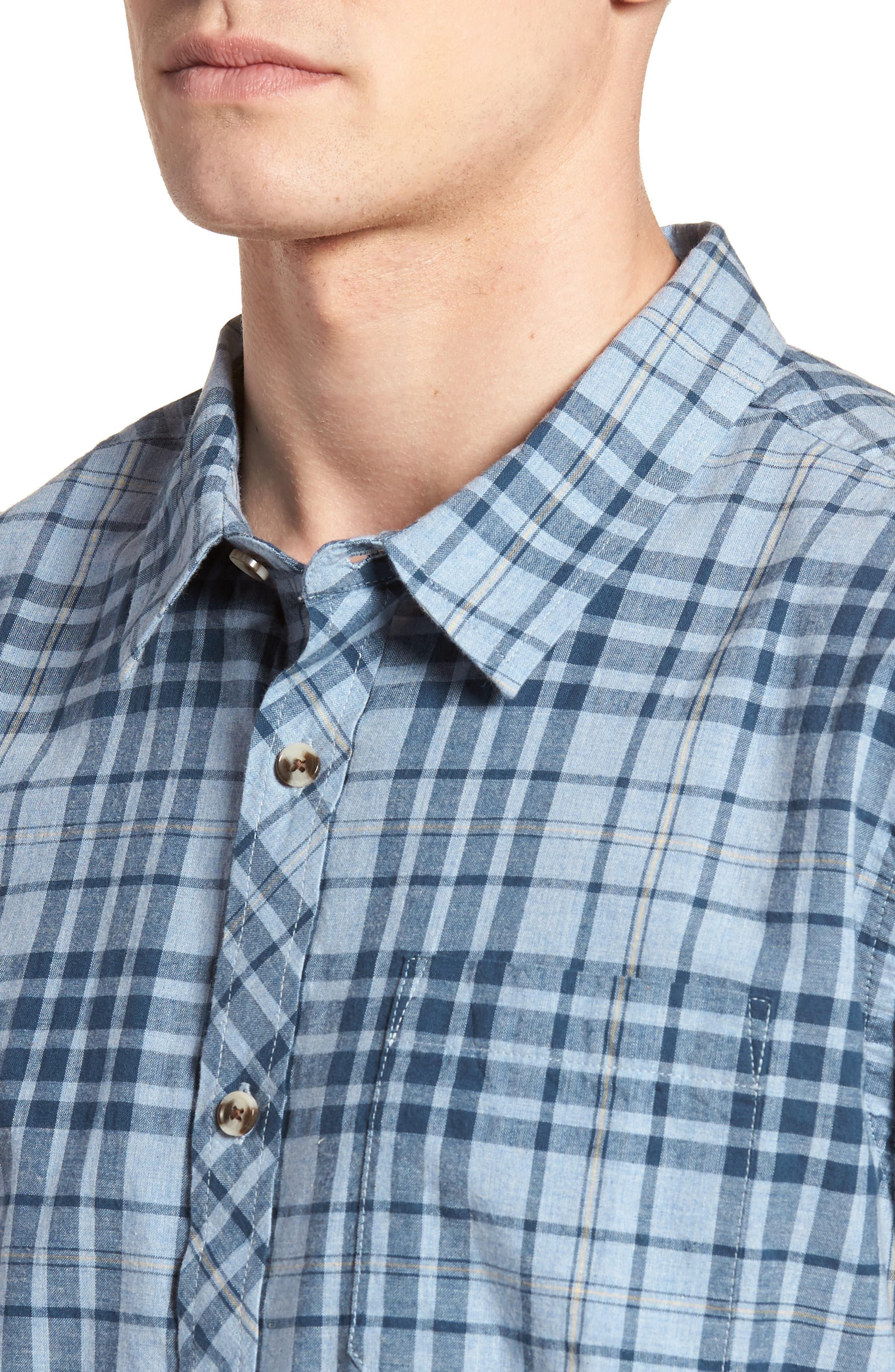 Rhodes Check Sport Shirt,                             Alternate thumbnail 8, color,