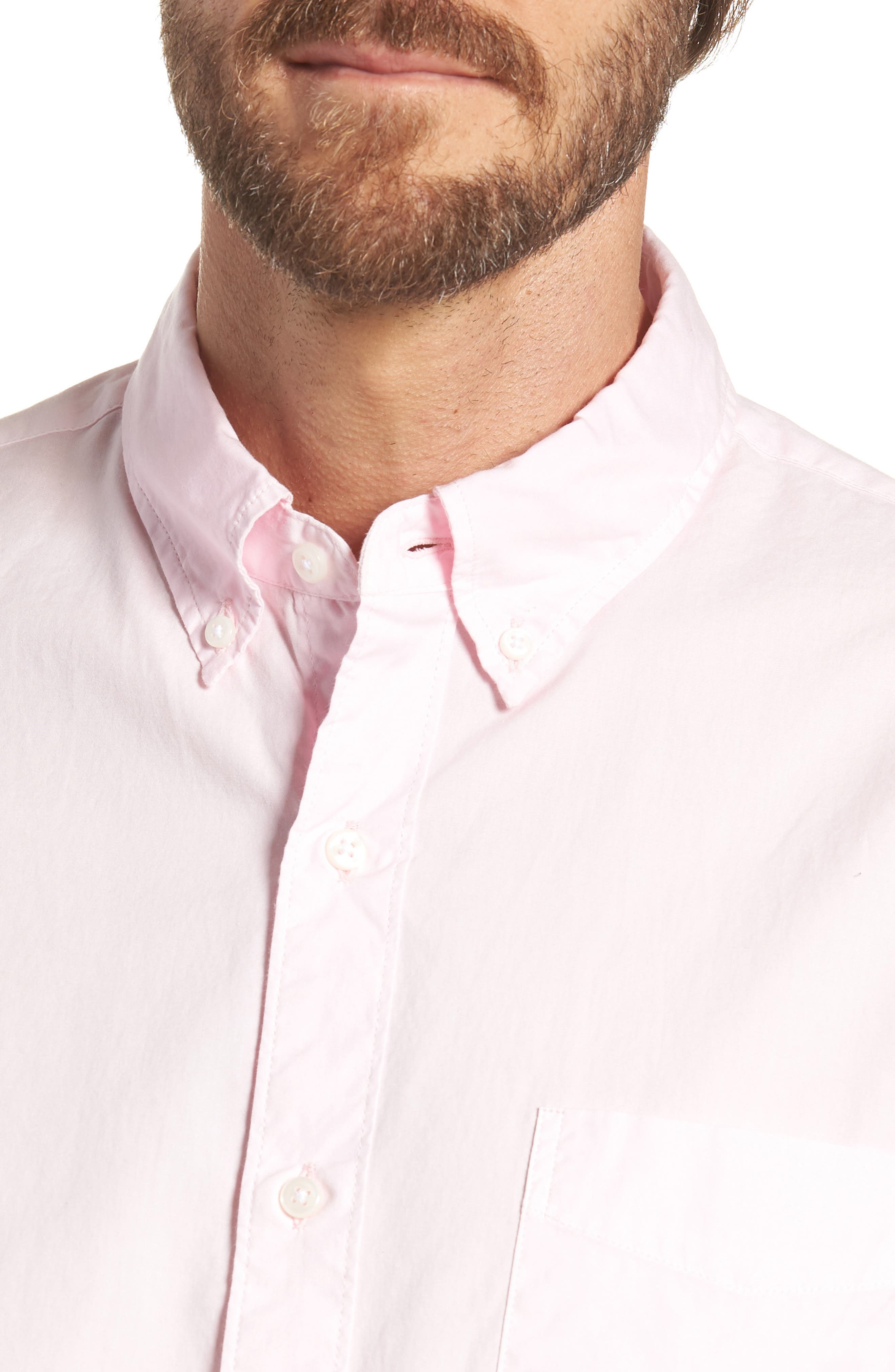 Slim Fit Stretch Secret Wash Garment Dyed Sport Shirt,                             Alternate thumbnail 5, color,
