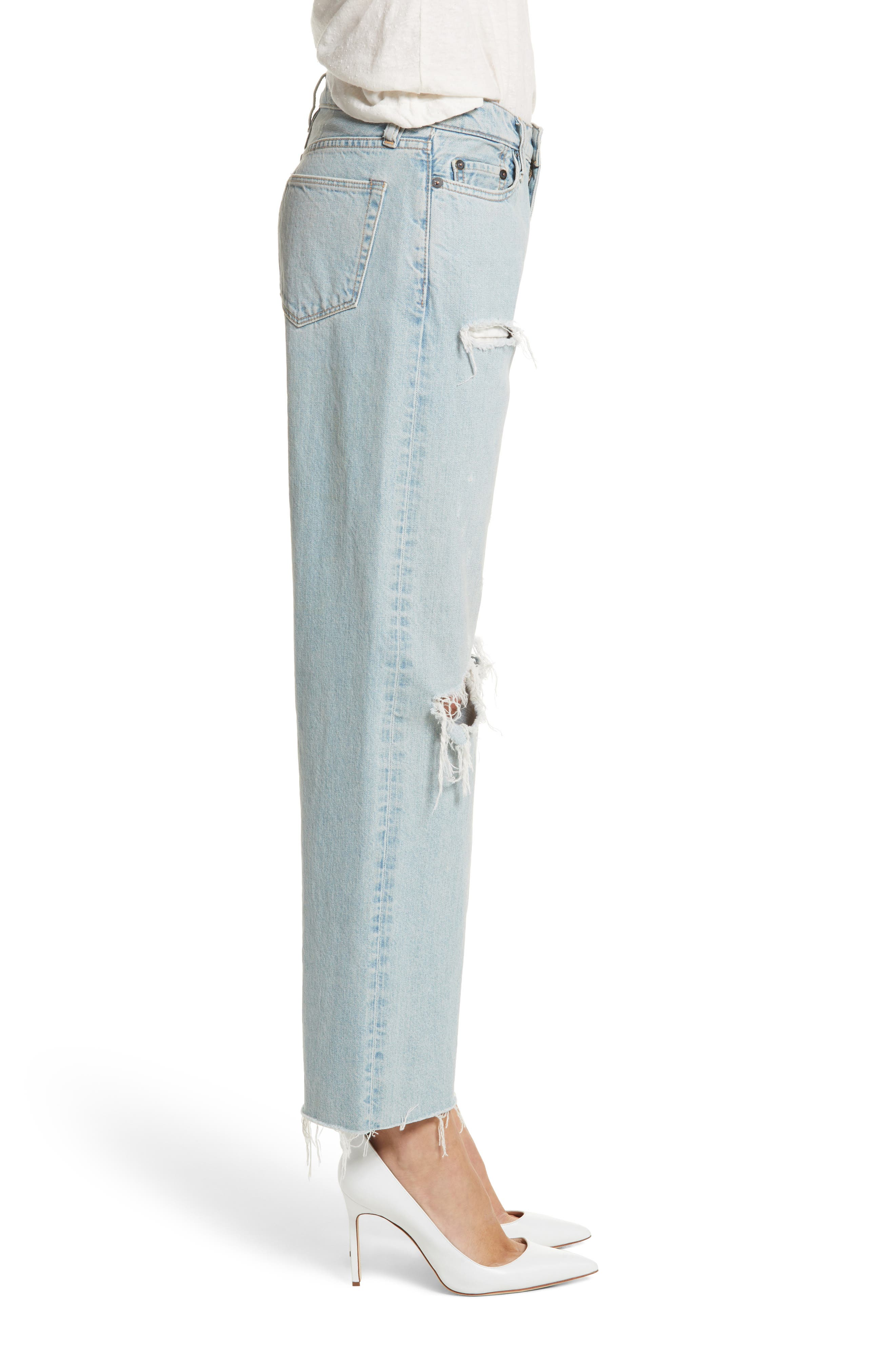 Tibbee Ripped Jeans,                             Alternate thumbnail 3, color,                             400