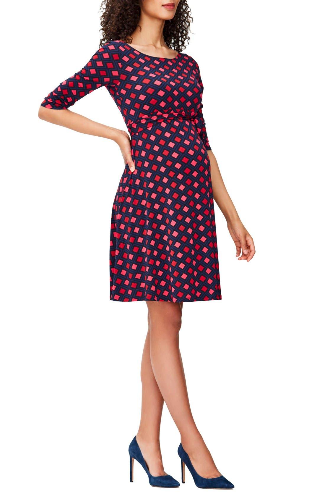 'Ilana' Belted Maternity Dress,                             Main thumbnail 15, color,