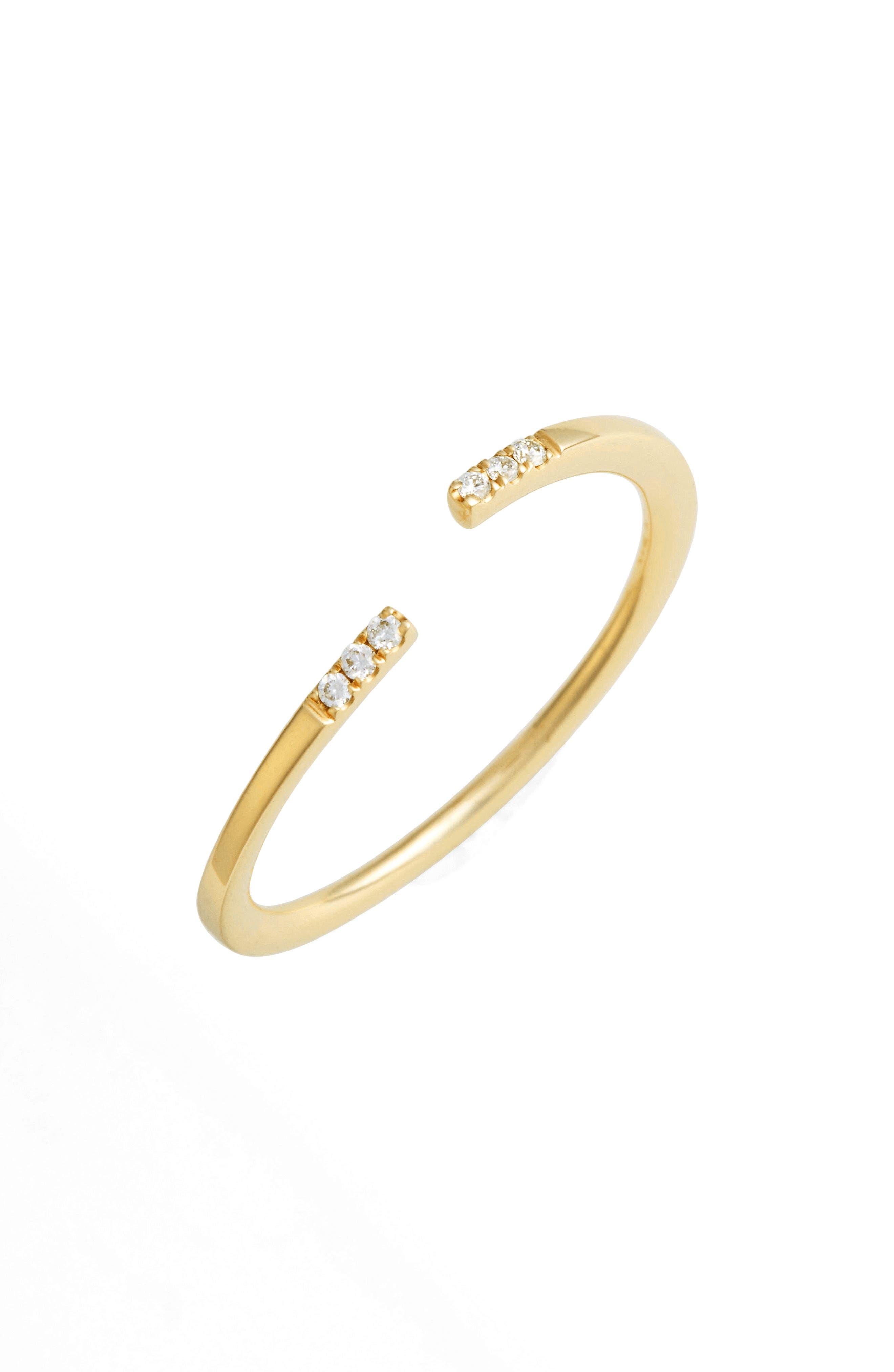 Open Diamond Ring,                         Main,                         color, 710