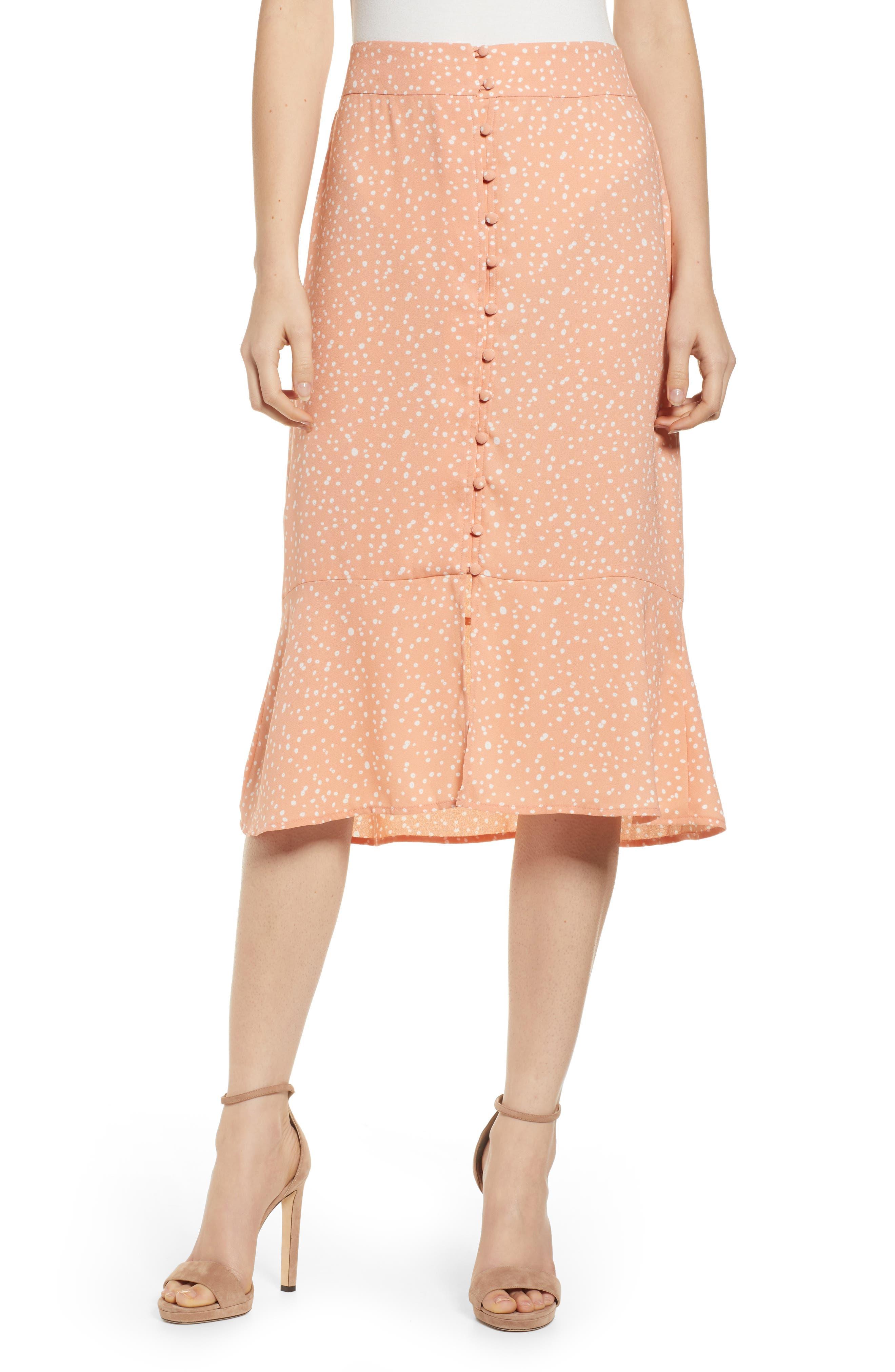 Leith Front Button Midi Skirt