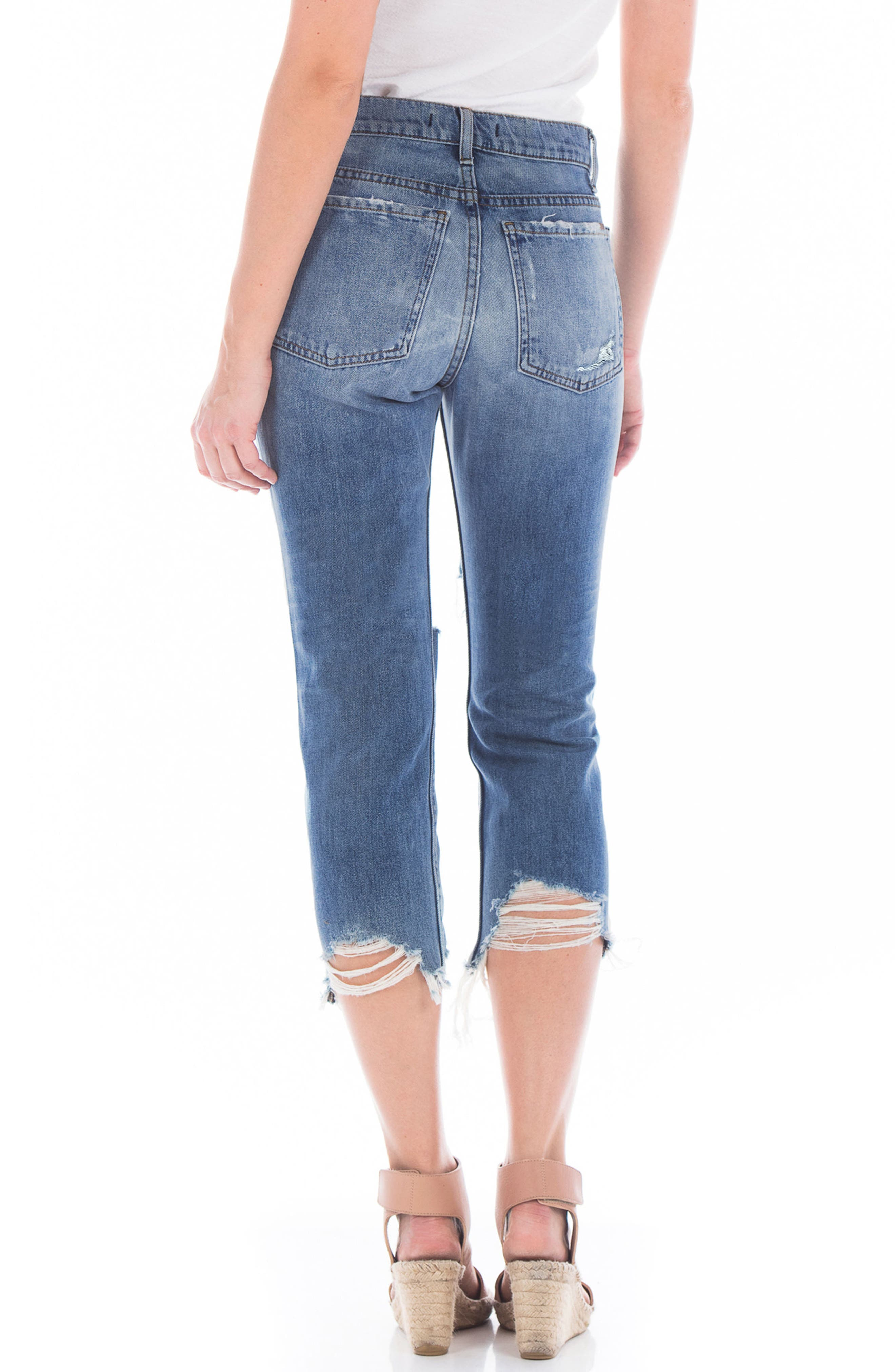 Dee Dee Ripped Crop Jeans,                             Alternate thumbnail 2, color,                             RIP N REPAIR