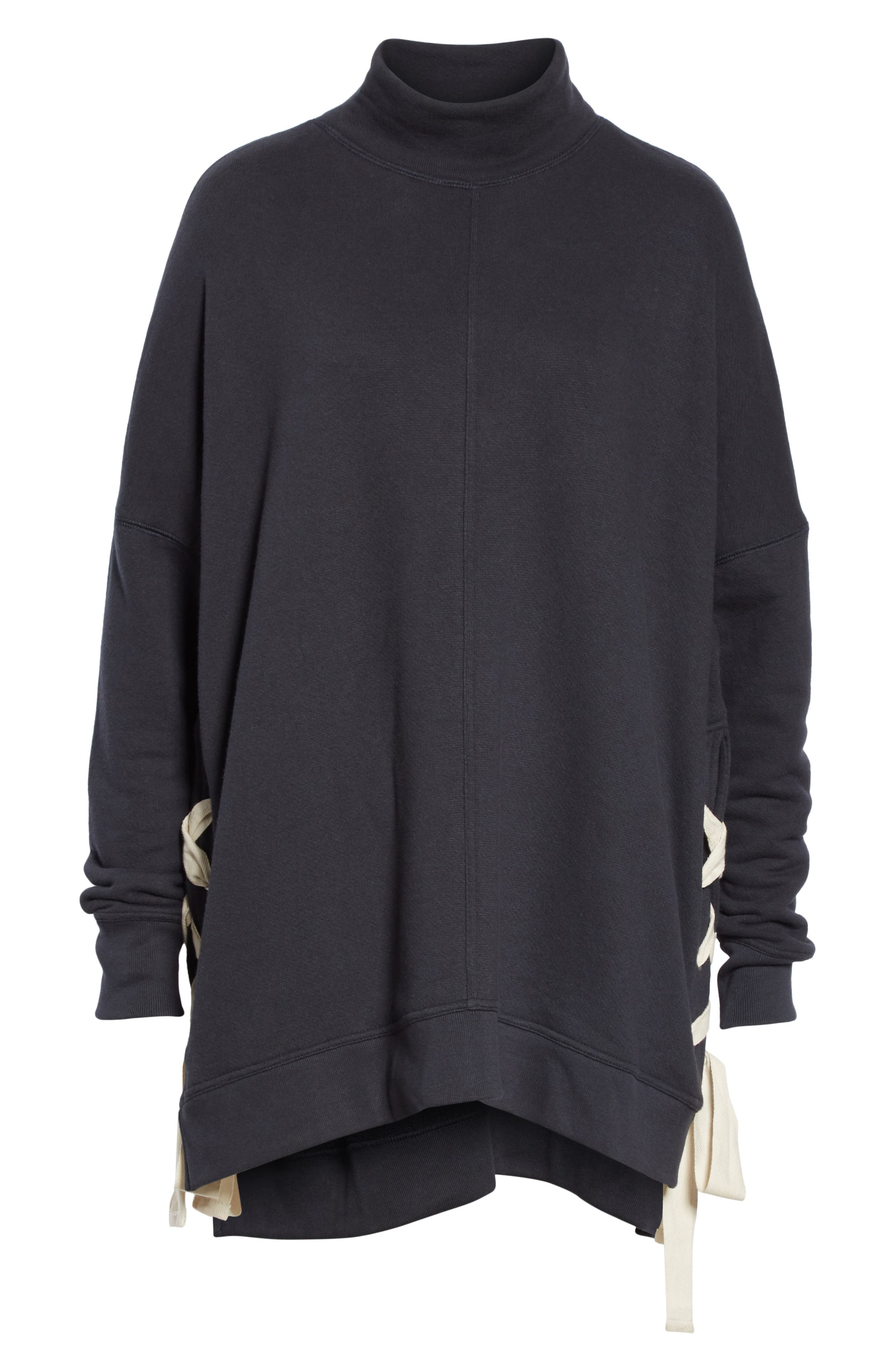 So Plush Lace-Up Pullover,                             Alternate thumbnail 6, color,                             001