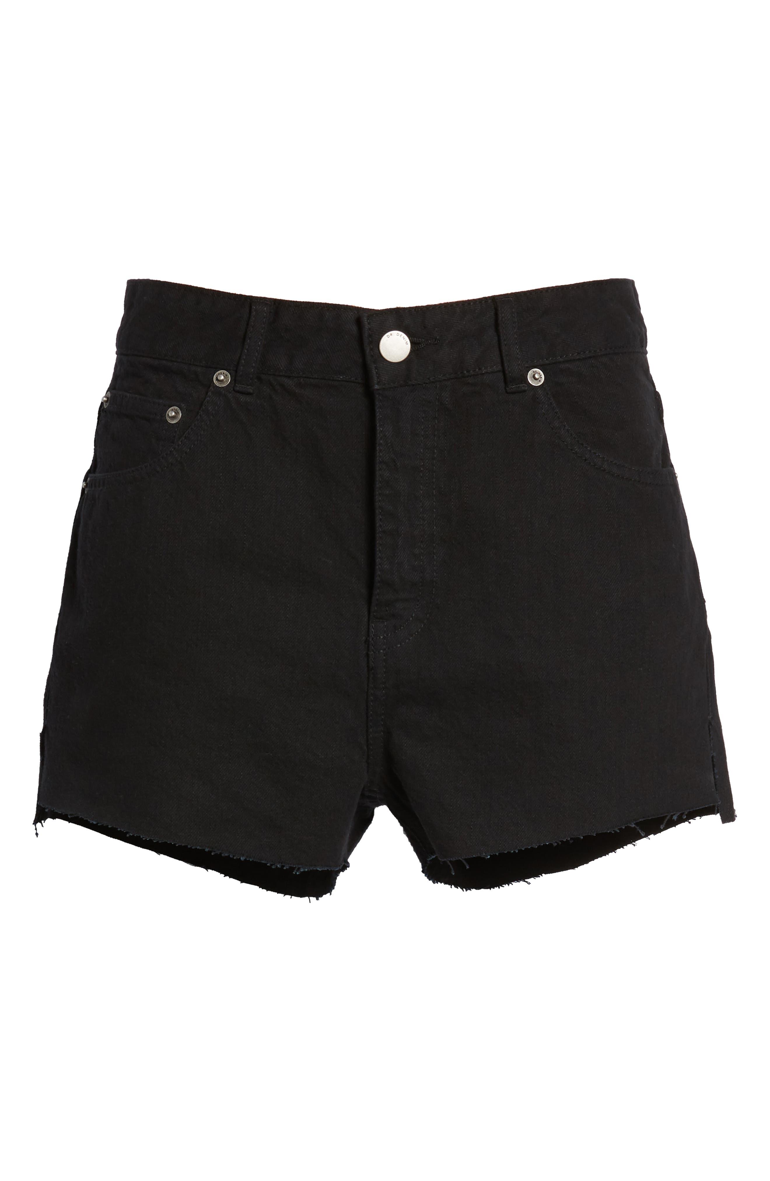 Vega Denim Shorts,                             Alternate thumbnail 7, color,                             001