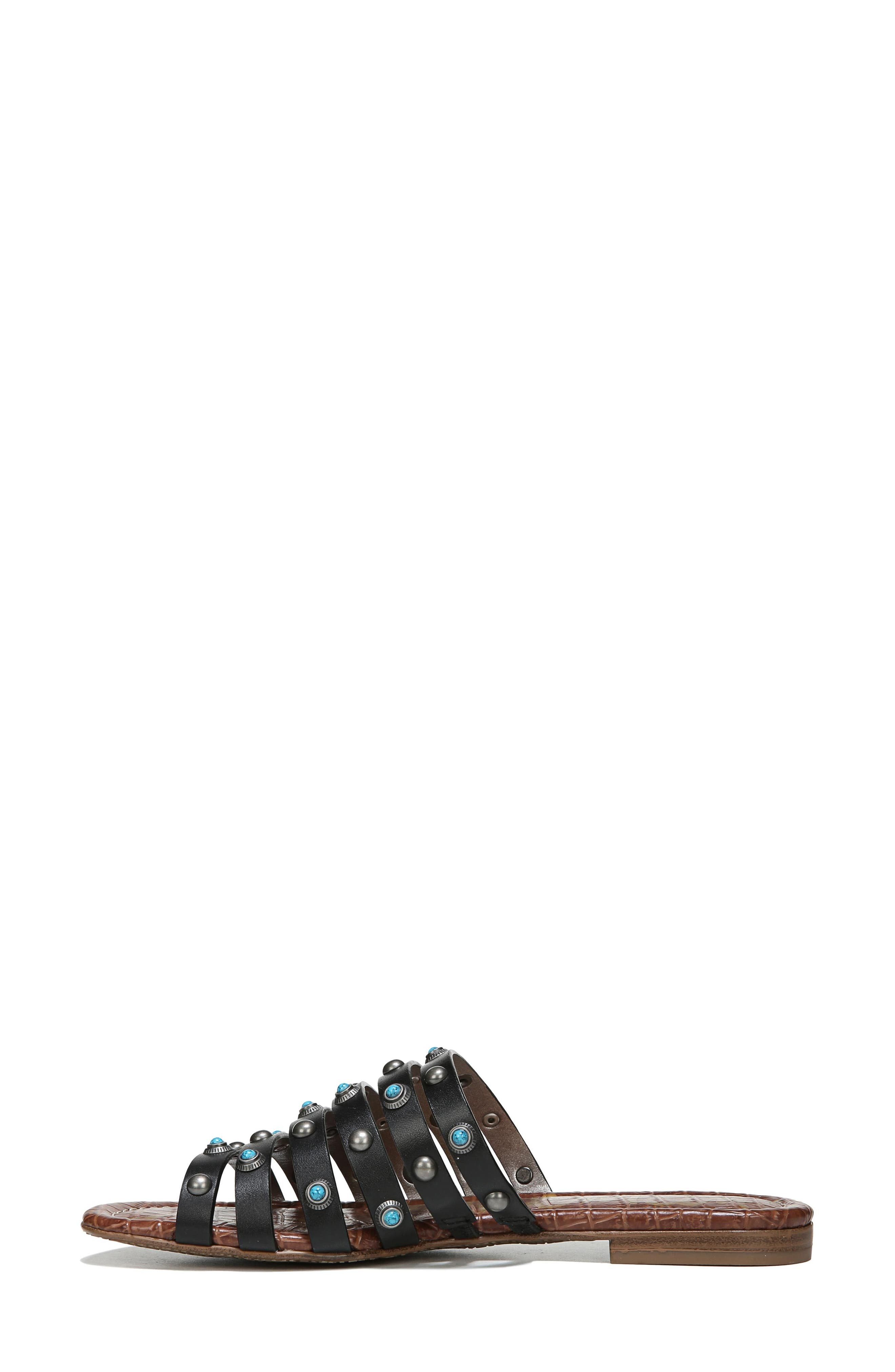 Brea Studded Slide Sandal,                             Alternate thumbnail 7, color,