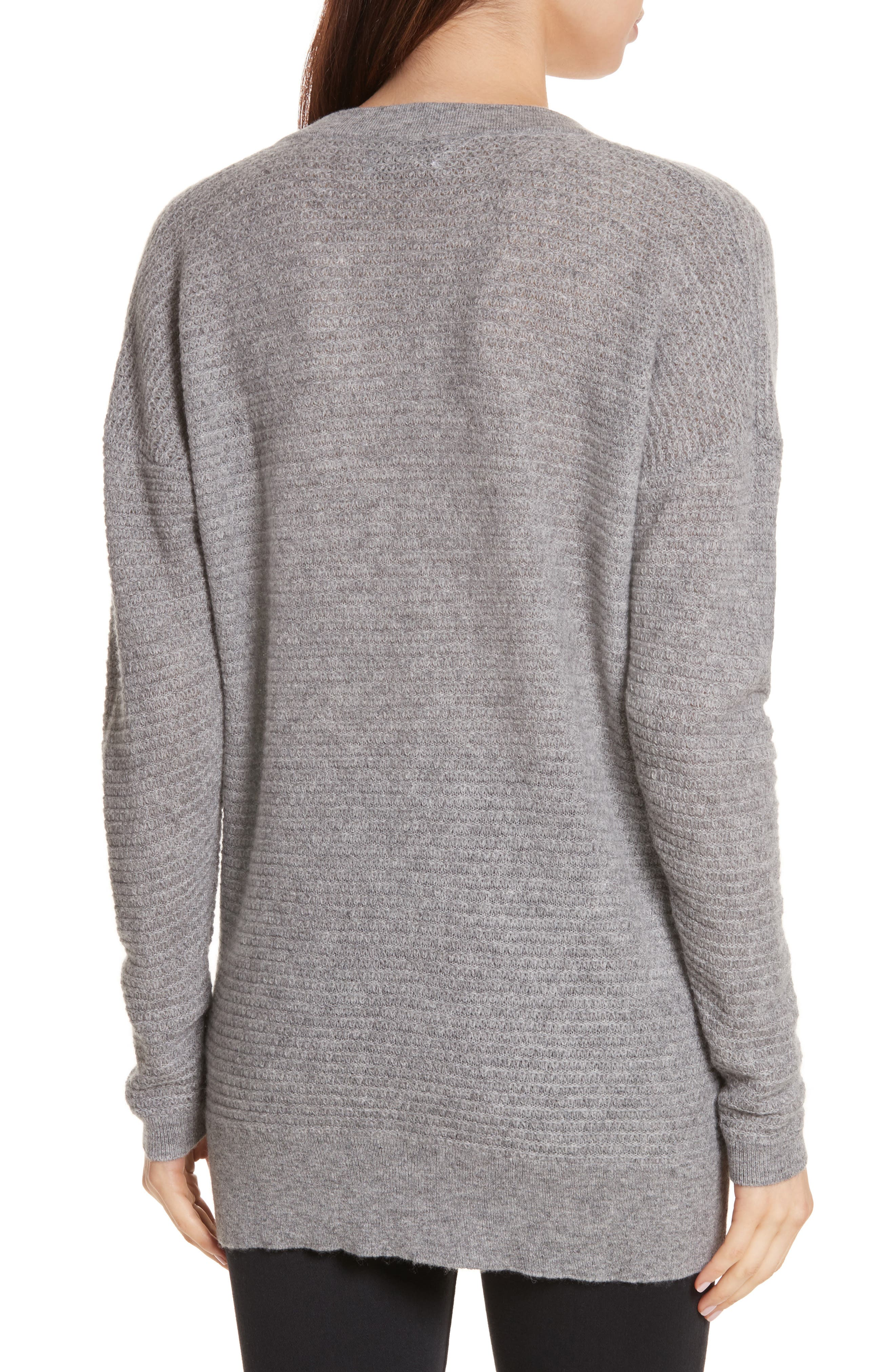 Cashmere V-Neck Sweater,                             Alternate thumbnail 2, color,