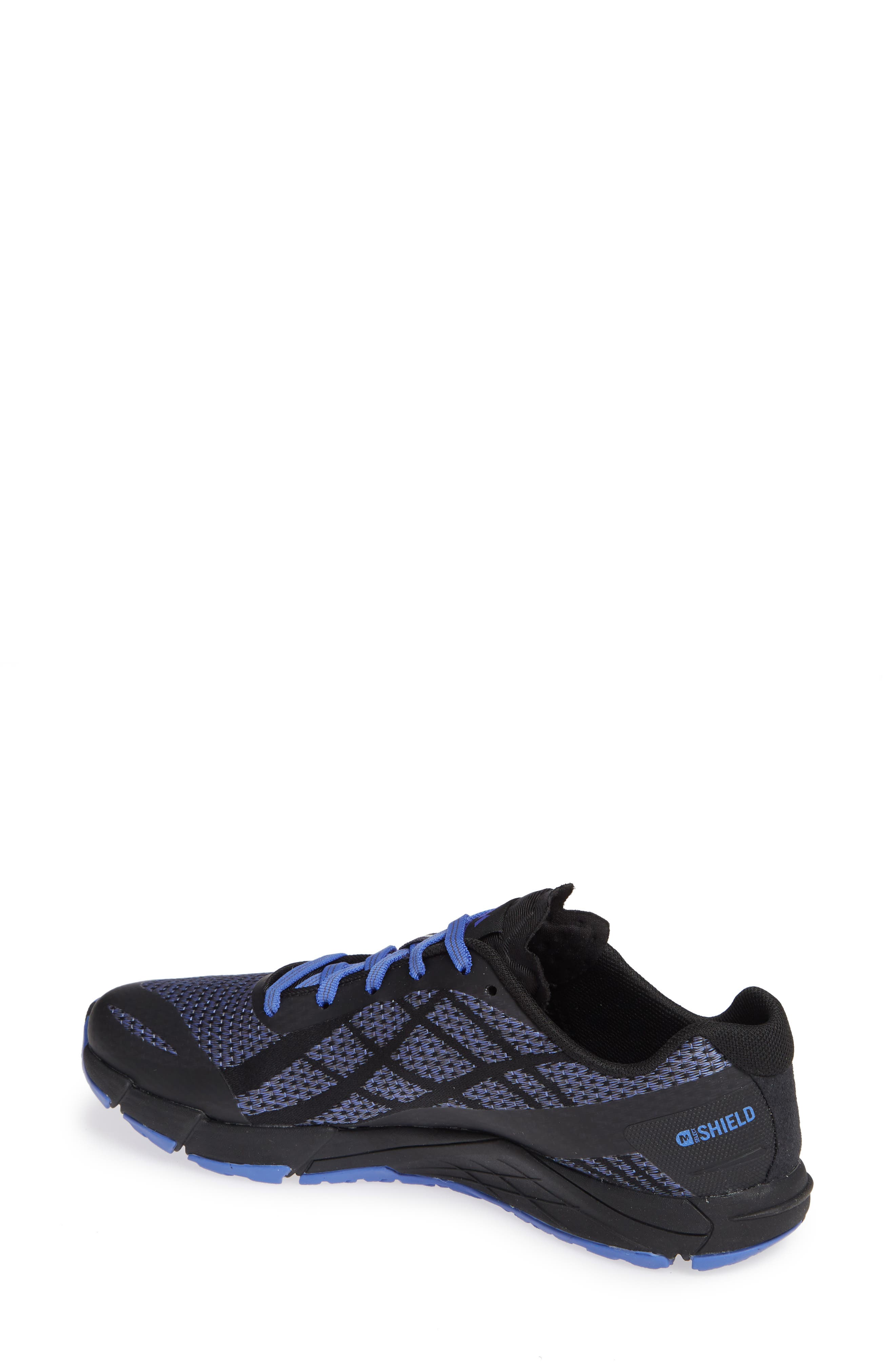 MERRELL,                             Bare Access Flex Shield Lace-Up Sneaker,                             Alternate thumbnail 2, color,                             BLACK AND WHITE FABRIC