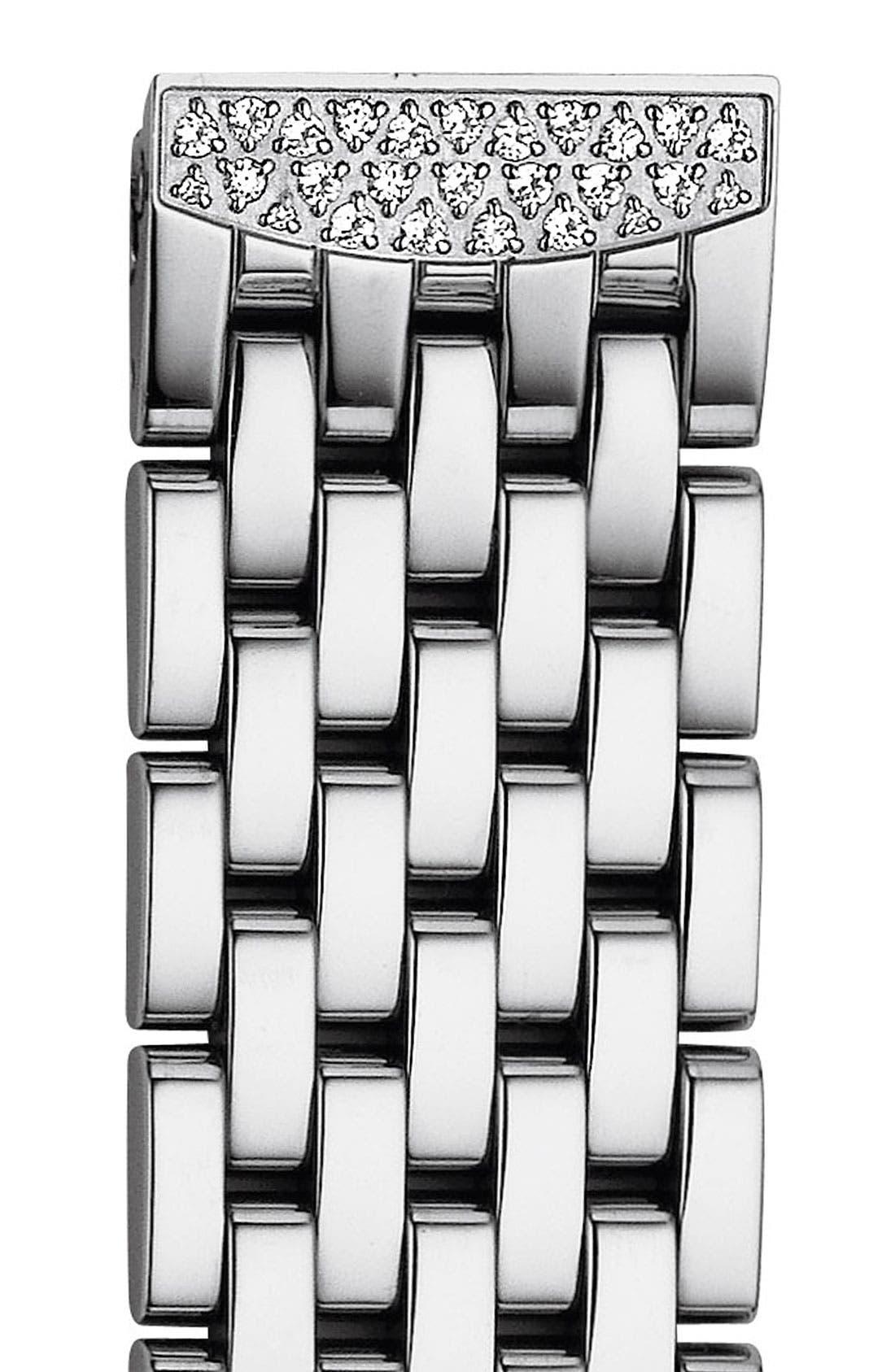 'Urban Mini Diamond' 16mm Bracelet Watchband,                             Main thumbnail 1, color,                             SILVER / DIAMOND