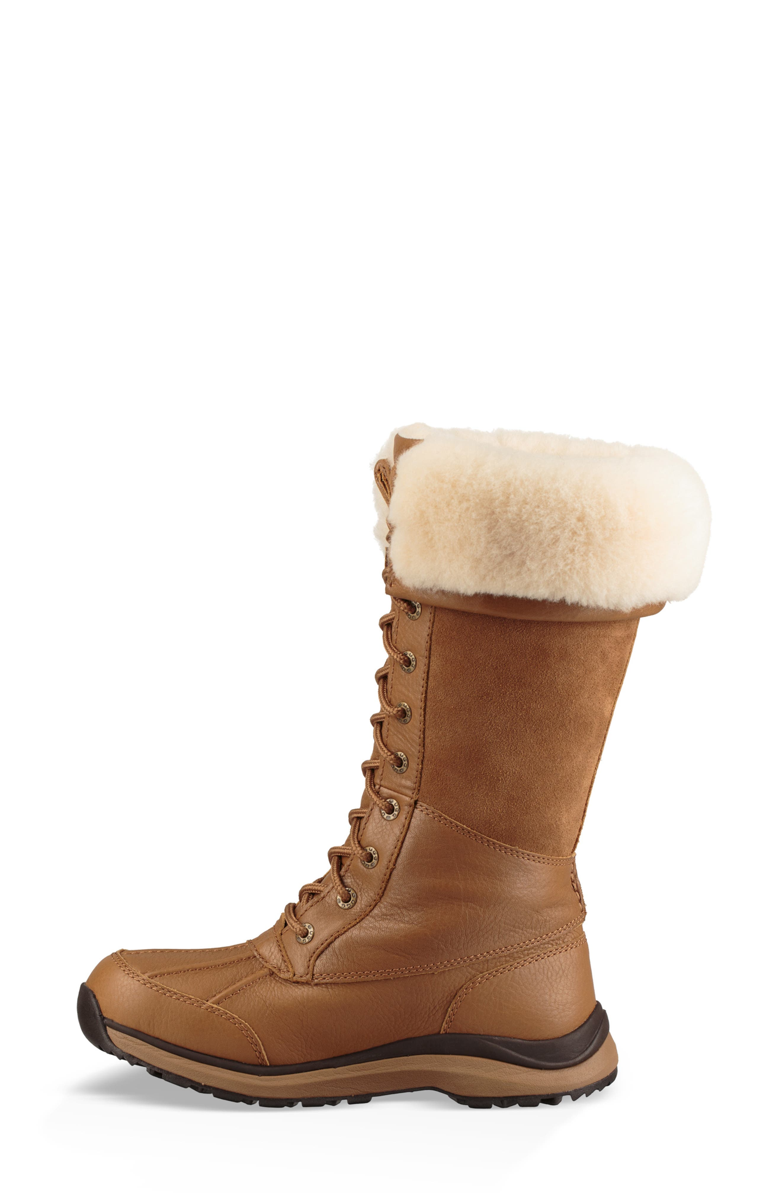 UGG<SUP>®</SUP>,                             Adirondack II Waterproof Tall Boot,                             Alternate thumbnail 6, color,                             CHESTNUT