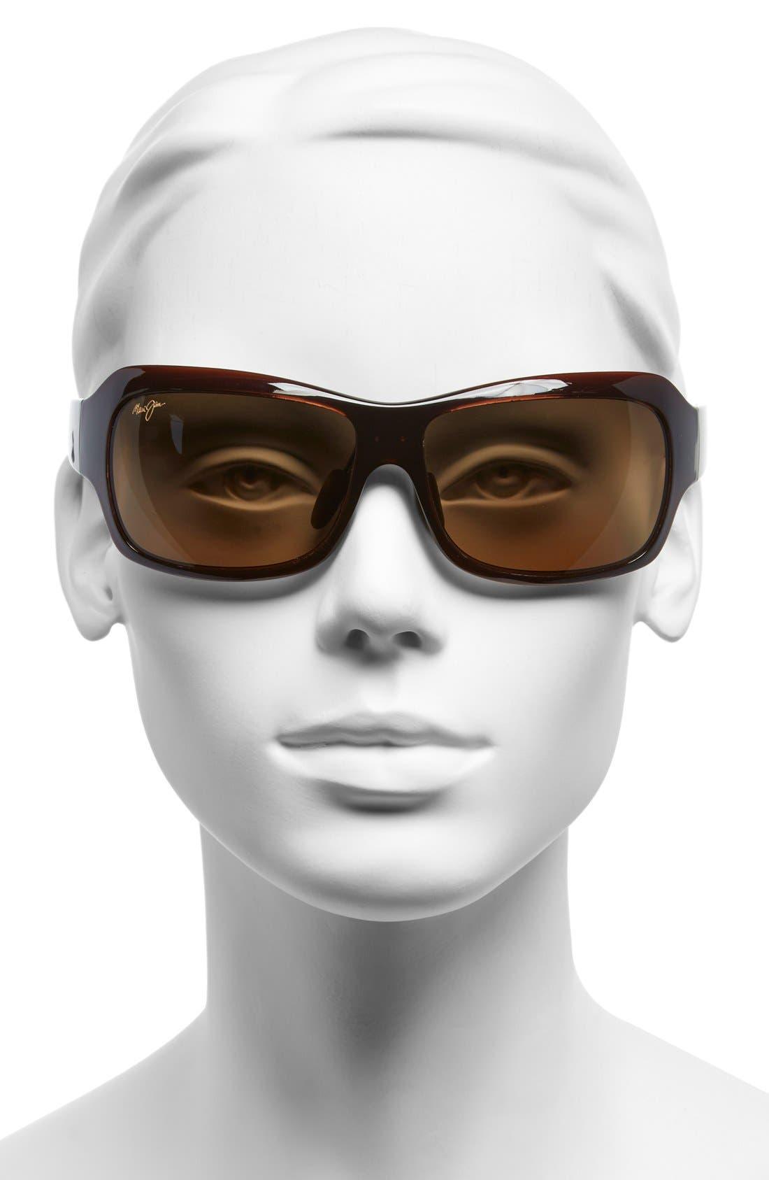 Seven Pools 62mm PolarizedPlus2<sup>®</sup> Sunglasses,                             Alternate thumbnail 2, color,                             ROOTBEER FADE/ BRONZE