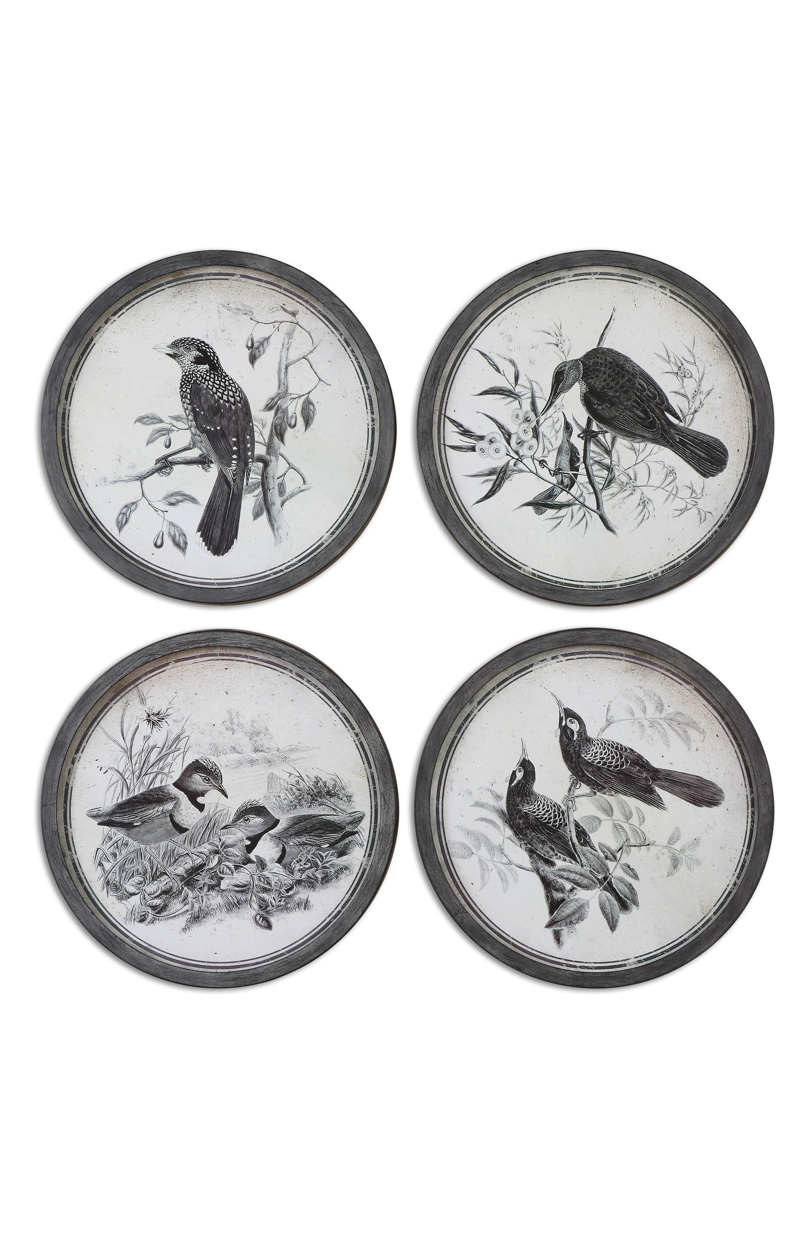 Birds In Nature 4-Piece Wall Art Set,                             Main thumbnail 1, color,