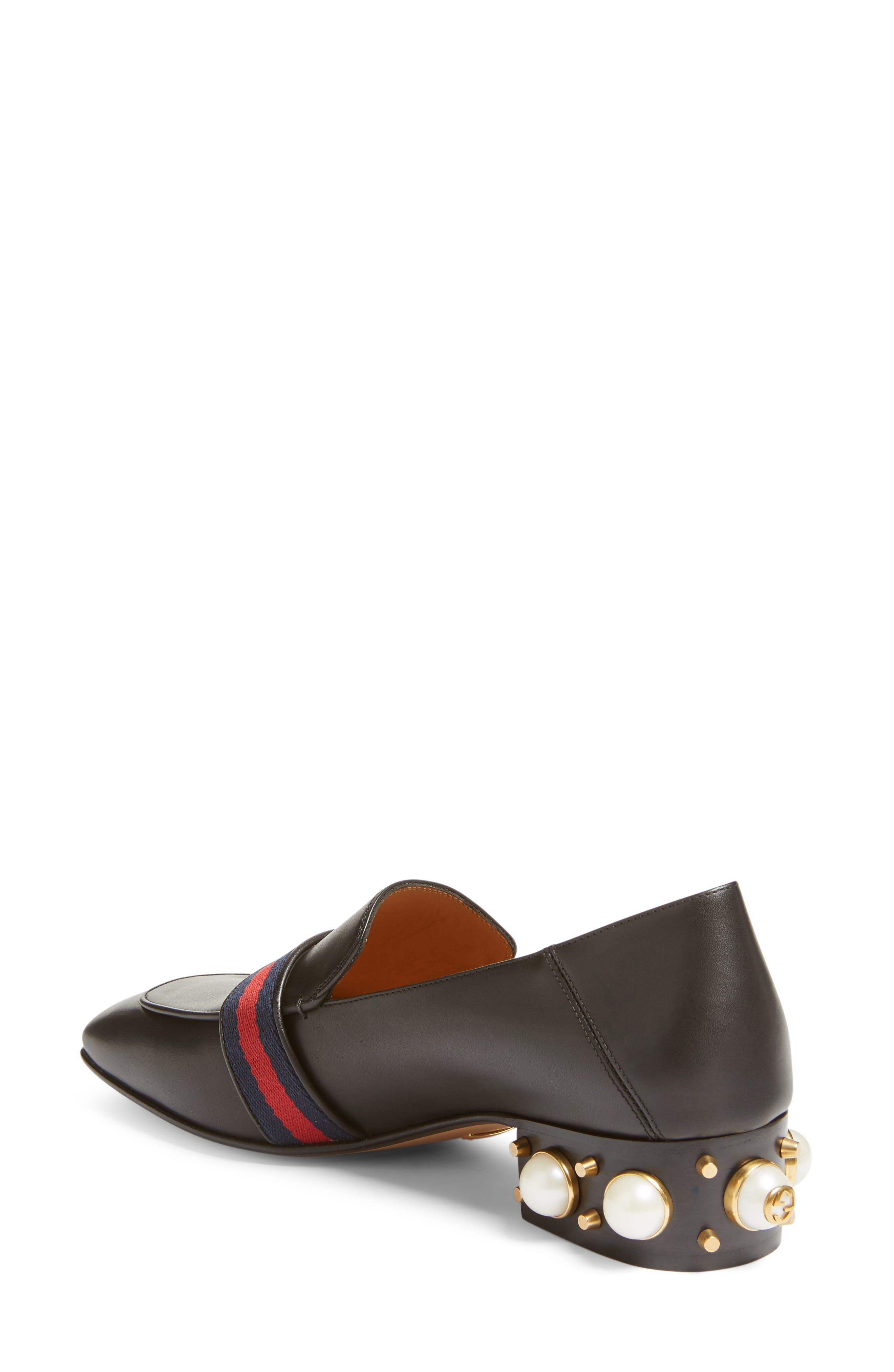 Embellished Heel Loafer,                             Alternate thumbnail 3, color,                             001